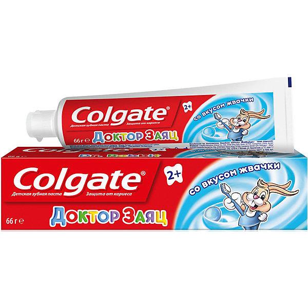 Зубная паста детская Доктор Заяц со вкусом жвачки 50мл, ColgateДетская зубная паста<br>Гелевая зубная паста, разработанная специально для малышей старше 2 лет, поможет привить ребенку привычку чистить зубы. Ведь чистить зубы пастой Colgate Доктор Заяц не только приятно, но и полезно. Безопасное количество фтора в зубной пасте оптимально подходит для эффективного ухода за детскими зубками. Уникальная формула без содержания сахара помогает защитить зубы от кариеса и сделать их более здоровыми. А вкус жвачки определенно понравится Вашему малышу, и он будет с удовольствием чистить зубы утром и вечером!<br><br>Зубная паста детская Доктор Заяц со вкусом жвачки 50мл, Colgate можно купить в нашем магазине.<br><br>Ширина мм: 162<br>Глубина мм: 33<br>Высота мм: 38<br>Вес г: 67<br>Возраст от месяцев: 24<br>Возраст до месяцев: 2147483647<br>Пол: Унисекс<br>Возраст: Детский<br>SKU: 3894790