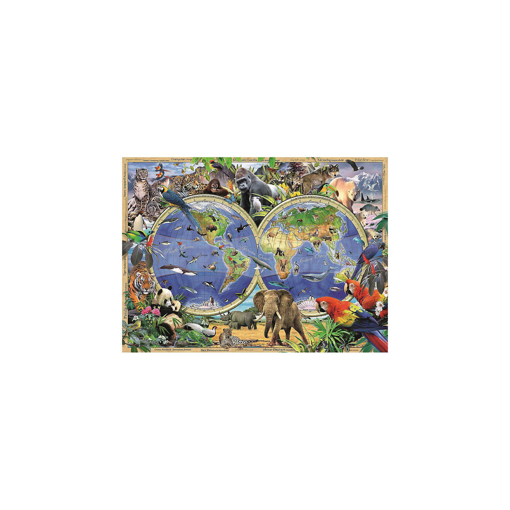 Пазл «Мир дикой природы» XXL 300 деталей, RavensburgerКлассические пазлы<br>Пазл «Мир дикой природы» XXL 300 деталей, Ravensburger (Равенсбургер) – этот яркий красочный пазл великолепный подарок для вашего ребенка.<br>Собрав занимательный пазл Ravensburger (Равенсбургер), ребенок сможет ознакомиться с редкими и находящимися под угрозой исчезновения видами животных и местами их обитания. Дизайн пазла разработал художник Говард Робинсон. Собирая картинку, ребенок развивает логическое мышление, воображение, мелкую моторику и умение принимать самостоятельные решения. Пазлы Ravensburger неповторимы и уникальны тем, что для их изготовления используется картон наивысшего класса, благодаря которому сложенные головоломки не сгибаются, сам картон не отделяется от картинки, а сложенная картинка представляется абсолютно плоской и не деформируется даже спустя время. Прочные детали не ломаются. Каждая деталь имеет свою форму и подходит только на своё место. Матовая поверхность исключает неприятные отблески. Изготовлено из экологического сырья.<br><br>Дополнительная информация:<br><br>- Количество деталей: 300<br>- Размер картинки: 36 х 49 см.<br>- Материал: картон<br>- Размер коробки: 34 x 4 х 23 см.<br><br>Пазл «Мир дикой природы» XXL 300 деталей, Ravensburger (Равенсбургер) можно купить в нашем интернет-магазине.<br><br>Ширина мм: 340<br>Глубина мм: 40<br>Высота мм: 230<br>Вес г: 544<br>Возраст от месяцев: 108<br>Возраст до месяцев: 192<br>Пол: Унисекс<br>Возраст: Детский<br>Количество деталей: 300<br>SKU: 3894984