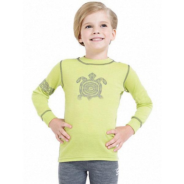 Футболка с длинным рукавом NorvegКофточки и распашонки<br>Футболка с длинным рукавом от известного бренда Norveg<br><br>Термофутболка Norveg Soft от немецкой компании Norveg (Норвег) - это удобная и красивая одежда, которая обеспечит комфортную терморегуляцию тела и на улице, и в помещении. <br>Она сделана из шерсти мериноса (австралийской тонкорунной овцы), очень приятной на ощупь. Такая шерсть обладает гипоаллергенными свойствами, поэтому не вызывает раздражения, даже если надета на голое тело.<br><br>Отличительные особенности модели:<br><br>- цвет: лайм;<br>- декорирована принтом черепаха;<br>- швы плоские, не натирают и не мешают движению;<br>- анатомические резинки;<br>- материал впитывает влагу и сразу выводит наружу;<br>- анатомический крой;<br>- подходит и мальчикам, и девочкам;<br>- не мешает под одеждой.<br><br>Дополнительная информация:<br><br>- Температурный режим: от - 20° С  до +20° С.<br><br>- Состав: 100% шерсть мериноса<br><br>Футболку с длинным рукавом Norveg (Норвег) можно купить в нашем магазине.<br><br>Ширина мм: 230<br>Глубина мм: 40<br>Высота мм: 220<br>Вес г: 250<br>Цвет: зеленый<br>Возраст от месяцев: 3<br>Возраст до месяцев: 6<br>Пол: Женский<br>Возраст: Детский<br>Размер: 104/110,92/98,80/86,68/74,116/122,128/134<br>SKU: 3895032