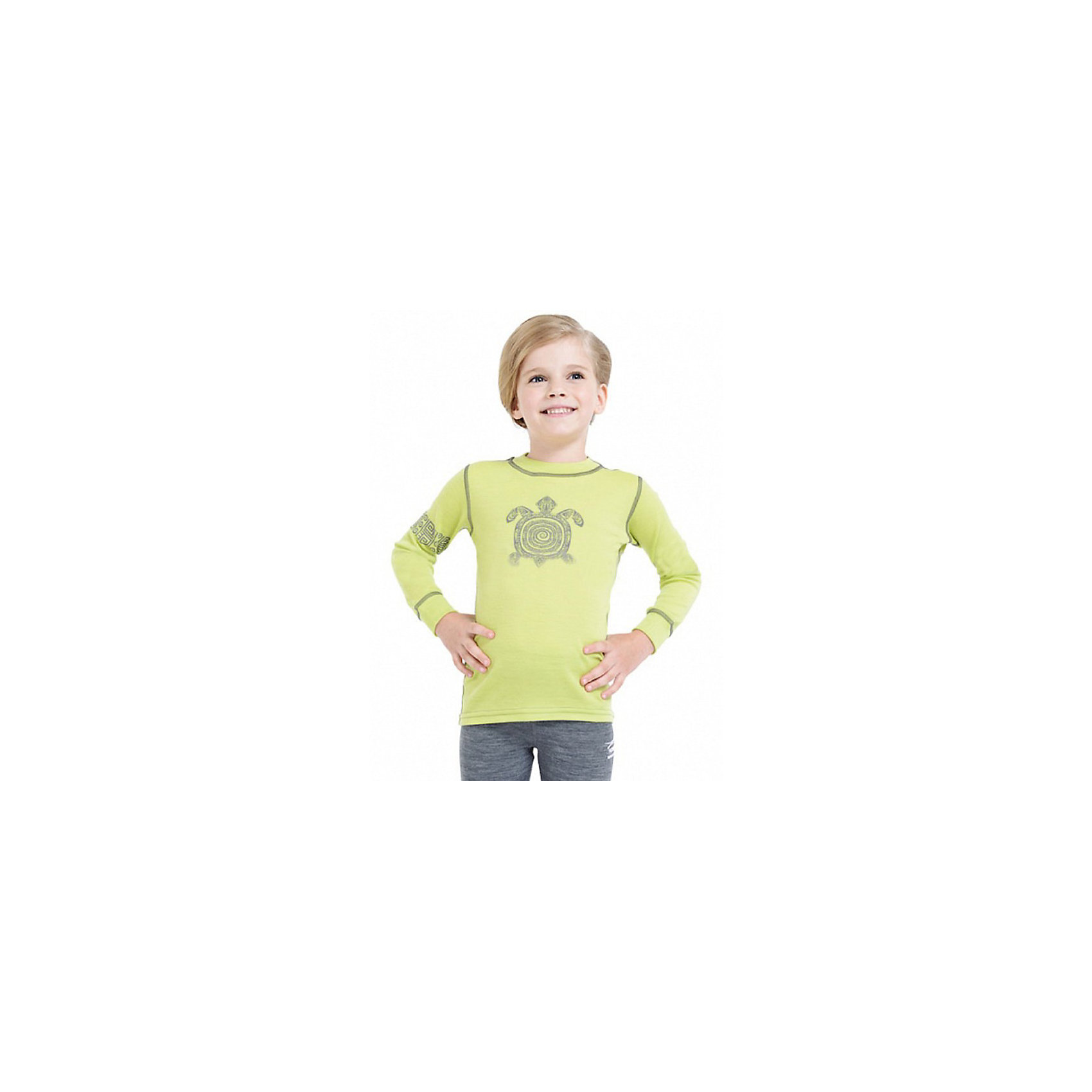 Футболка с длинным рукавом NorvegКофточки и распашонки<br>Футболка с длинным рукавом от известного бренда Norveg<br><br>Термофутболка Norveg Soft от немецкой компании Norveg (Норвег) - это удобная и красивая одежда, которая обеспечит комфортную терморегуляцию тела и на улице, и в помещении. <br>Она сделана из шерсти мериноса (австралийской тонкорунной овцы), очень приятной на ощупь. Такая шерсть обладает гипоаллергенными свойствами, поэтому не вызывает раздражения, даже если надета на голое тело.<br><br>Отличительные особенности модели:<br><br>- цвет: лайм;<br>- декорирована принтом черепаха;<br>- швы плоские, не натирают и не мешают движению;<br>- анатомические резинки;<br>- материал впитывает влагу и сразу выводит наружу;<br>- анатомический крой;<br>- подходит и мальчикам, и девочкам;<br>- не мешает под одеждой.<br><br>Дополнительная информация:<br><br>- Температурный режим: от - 20° С  до +20° С.<br><br>- Состав: 100% шерсть мериноса<br><br>Футболку с длинным рукавом Norveg (Норвег) можно купить в нашем магазине.<br><br>Ширина мм: 230<br>Глубина мм: 40<br>Высота мм: 220<br>Вес г: 250<br>Цвет: зеленый<br>Возраст от месяцев: 12<br>Возраст до месяцев: 15<br>Пол: Женский<br>Возраст: Детский<br>Размер: 80/86,116/122,128/134,104/110,92/98,68/74<br>SKU: 3895032