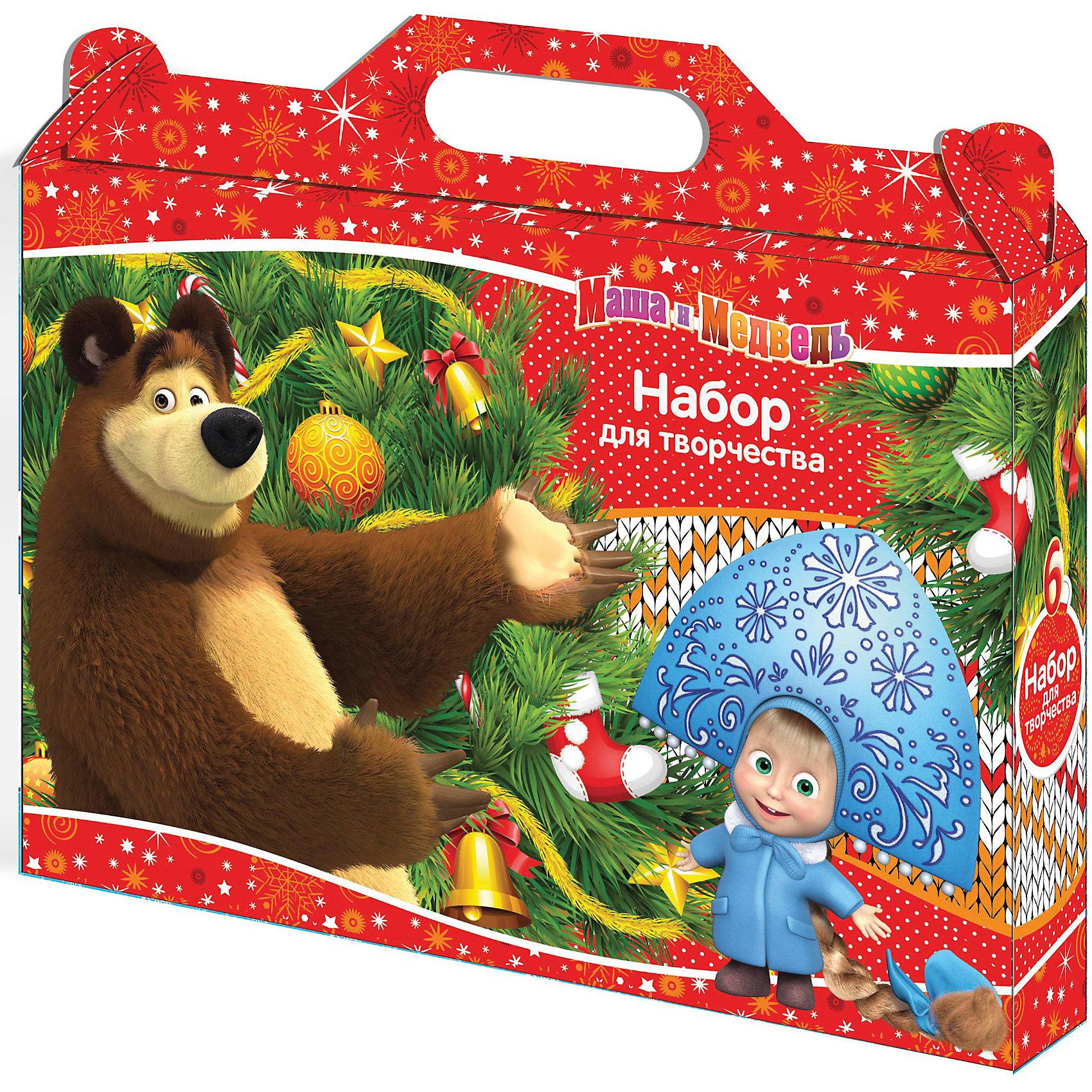 Набор для творчества Маша и МедведьНабор для творчества Маша и Медведь включает в себя все, что нужно для творчества! Ваш ребенок может лепить фигурки любимых героев из пластилина или же сделать открытку или поделку, применив цветной картон, цветную бумагу и все остальные составляющие набора. Пластилин обладает отличными пластичными свойствами, легко размягчается, не липнет к рукам, не имеет запаха, безопасен. Ножницы имеют хорошо заточенные лезвия из высококачественной нержавеющей стали, пластиковые ручки, закругленные концы и защитный чехол. Изделие безопасно для ребенка. Клей не имеет запаха и безопасен при надлежащем использовании. Лепи, конструируй из бумаги и фантазируй вместе с любимыми героями! Набор прекрасно развивает мелкую моторику и творческие способности, станет отличным подарком для любого ребенка. <br><br>Дополнительная информация:<br><br>- Комплектация: ножницы, пластилин (8 цветов), стек из пластика, клей-карандаш ( объем 8 гр.), цветной картон (А4, 10 листов, 10 цветов), цветная бумага А4, 10 цветов, 10 листов).<br>- Размер: 31.5х5х28 см<br>- Тип упаковки: папка, выполненная из мелованного картона.<br>- Крепление: скрепка.<br><br>Набор для творчества Маша и Медведь можно купить в нашем магазине.<br><br>Ширина мм: 50<br>Глубина мм: 280<br>Высота мм: 315<br>Вес г: 600<br>Возраст от месяцев: 36<br>Возраст до месяцев: 84<br>Пол: Женский<br>Возраст: Детский<br>SKU: 3895258