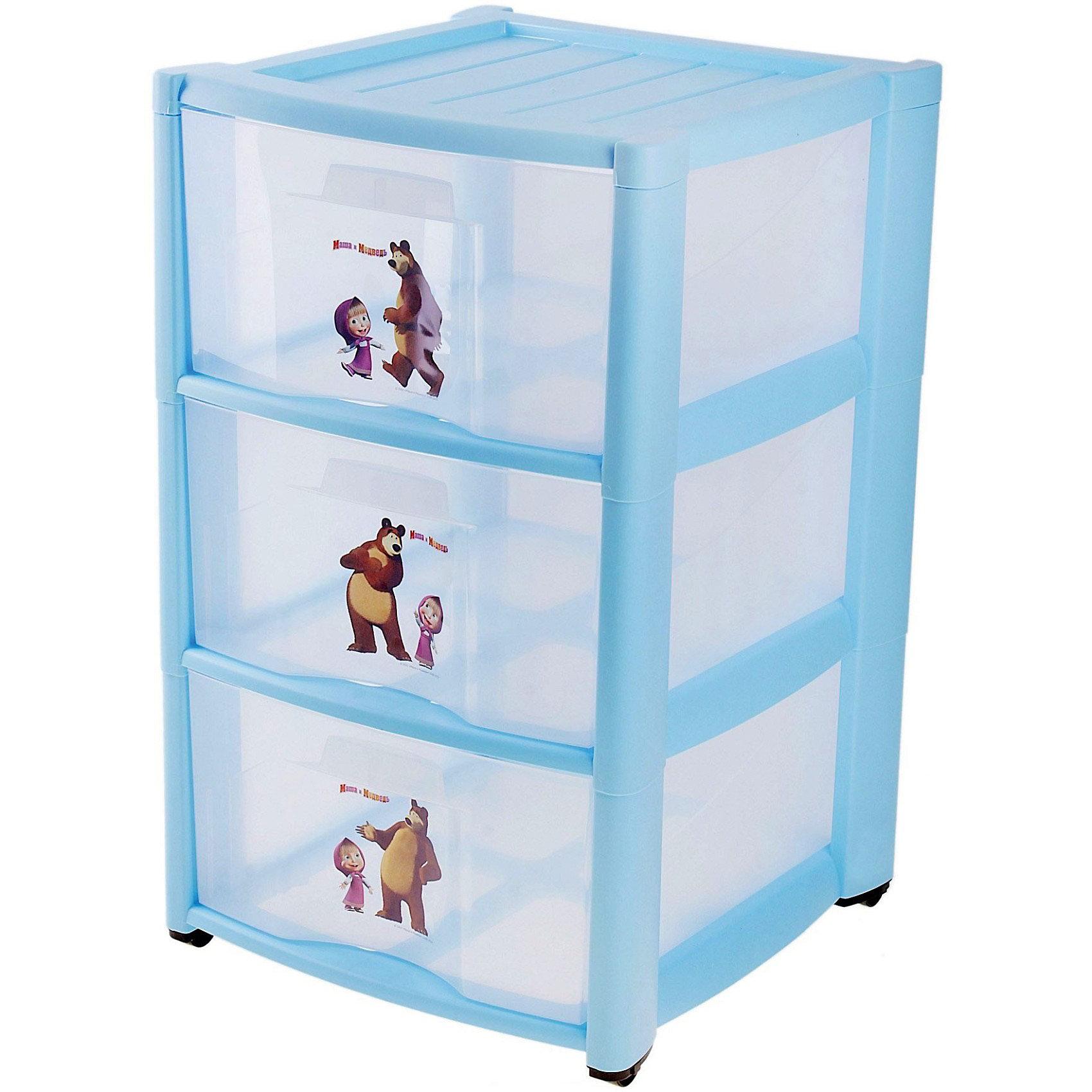 Пластиковый комод Маша и Медведь, 3 ящика, голубойДетский пластиковый комод Маша и Медведь, 3 ящика. <br>Материал: полипропилен.<br>Размеры: 39х37х60см.<br>Детский пластиковый комод Маша и Медведь с 3-мя ящиками можно купить в нашем интернет-магазине.<br><br>ВНИМАНИЕ! Данный артикул имеется в наличии в разных вариантах исполнения. К сожалению, заранее выбрать определенный вариант нельзя. При заказе нескольких позиций возможно получение одинаковых.<br><br>Ширина мм: 390<br>Глубина мм: 370<br>Высота мм: 600<br>Вес г: 3400<br>Возраст от месяцев: -2147483648<br>Возраст до месяцев: 2147483647<br>Пол: Мужской<br>Возраст: Детский<br>SKU: 3895289