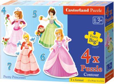 Пазлы Принцессы , 4*5*6*7 деталей, Castorland