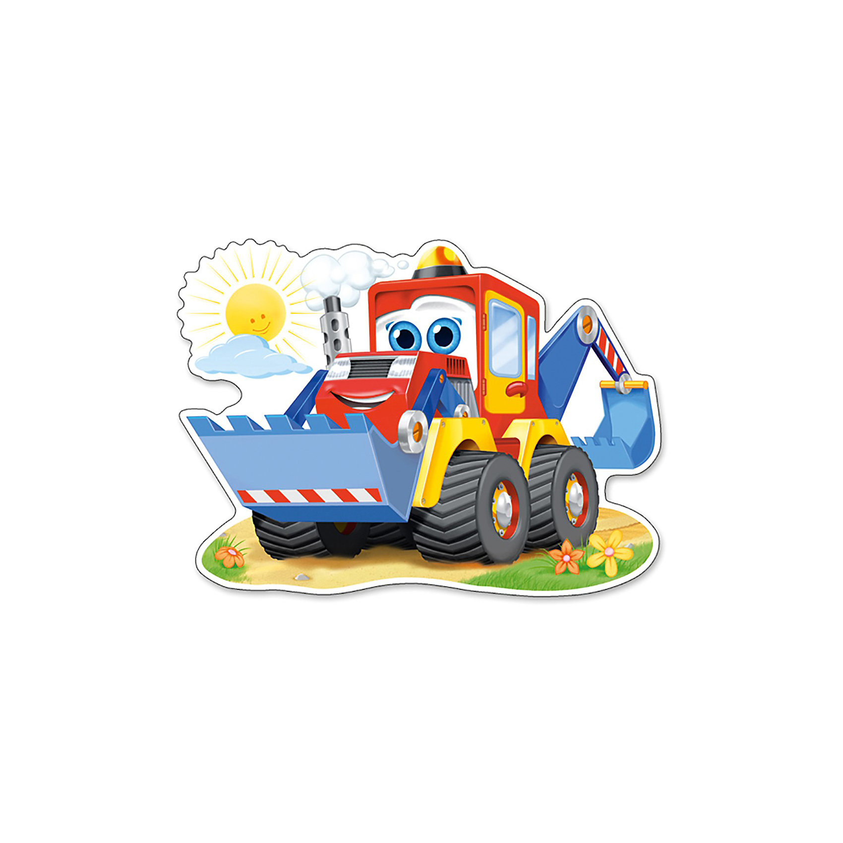 Castorland Пазл  Забавный экскаватор, 12 деталей MAXI, Castorland castorland пазл летний полет winx club 60 деталей castorland