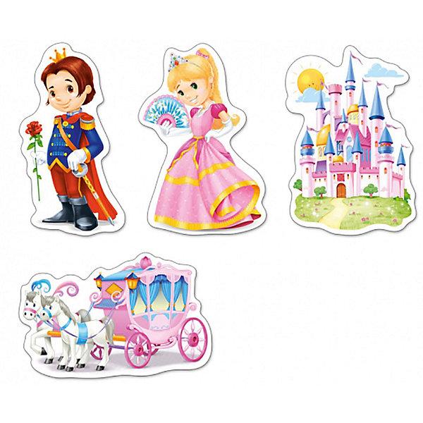 Пазлы Мир принцесс, 3*4*6*9 деталей, CastorlandПазлы для малышей<br>Пазлы Мир принцесс, 3*4*6*9 деталей, Castorland (Касторленд) - это увлекательный набор для первого знакомства вашей малышки с пазлами.<br>Пазлы Мир принцесс – это контурные пазлы для самых маленьких, состоящие из четырех отдельных картинок разной степени сложности. В наборе пазлы с изображением сказочной кареты, прекрасного замка, принцессы и принца. Собирая пазлы, малышка сможет не только увлекательно провести время, но и развить образное и логическое мышление, наблюдательность, мелкую моторику и координацию движений рук. Пазлы выполнены из плотного картона, детали красочные и крупные, легко собираются.<br><br>Дополнительная информация:<br><br>- Каждый пазл состоит из разного количества деталей: сказочная карета – 9 деталей, замок – 6 деталей, принц - -4 детали, принцесса – 3 детали<br>- Размер картинок: 16.5 ? 11 см.<br>- Материал: плотный картон<br>- Упаковка: картонная коробка<br>- Размер коробки: 17,5 х 3,7 х 13 см.<br>- Вес: 110 гр.<br><br>Пазлы Мир принцесс, 3*4*6*9 деталей, Castorland (Касторленд) можно купить в нашем интернет-магазине.<br>Ширина мм: 175; Глубина мм: 37; Высота мм: 130; Вес г: 110; Возраст от месяцев: 36; Возраст до месяцев: 84; Пол: Унисекс; Возраст: Детский; Количество деталей: 3; SKU: 3899115;