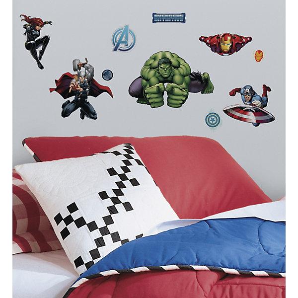 Наклейки для декора Мстители (персонажи)Детские предметы интерьера<br>Наклейки для декора Мстители от знаменитого производителя RoomMates станут украшением вашей квартиры! Новый яркий набор наклеек для декора оценит каждый любитель классических комиксов от студии Марвел! Наклейки, входящие в набор, содержат изображения Капитана Америки, Железного Человека, Халка, Тора, Черной Вдовы и других героев знаменитых комиксов. Всего в наборе 28 стикеров. Наклейки не нужно вырезать - их следует просто отсоединить от защитного слоя и поместить на стену или любую другую плоскую гладкую поверхность. Наклейки многоразовые: их легко переклеивать и снимать со стены, они не оставляют липких следов на поверхности. В каждой индивидуальной упаковке Вы можете найти 4 листа с различными наклейками! Таким образом, покупая наклейки фирмы RoomMates, Вы получаете гораздо больший ассортимент наклеек, имея возможность украсить ими различные поверхности в доме.<br><br>Ширина мм: 273<br>Глубина мм: 129<br>Высота мм: 27<br>Вес г: 165<br>Возраст от месяцев: 48<br>Возраст до месяцев: 1164<br>Пол: Мужской<br>Возраст: Детский<br>SKU: 3901226