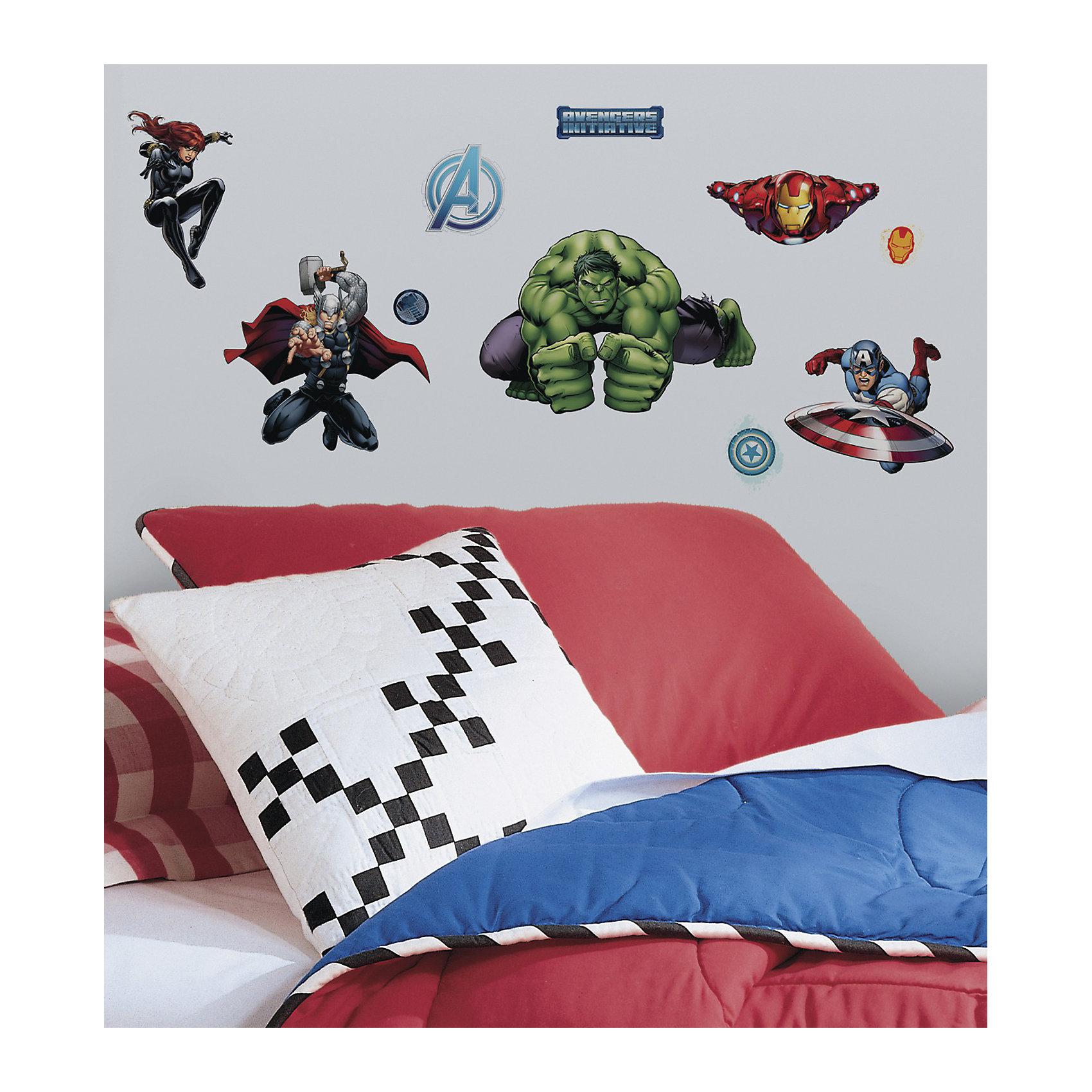 Наклейки для декора Мстители (персонажи)Предметы интерьера<br>Наклейки для декора Мстители от знаменитого производителя RoomMates станут украшением вашей квартиры! Новый яркий набор наклеек для декора оценит каждый любитель классических комиксов от студии Марвел! Наклейки, входящие в набор, содержат изображения Капитана Америки, Железного Человека, Халка, Тора, Черной Вдовы и других героев знаменитых комиксов. Всего в наборе 28 стикеров. Наклейки не нужно вырезать - их следует просто отсоединить от защитного слоя и поместить на стену или любую другую плоскую гладкую поверхность. Наклейки многоразовые: их легко переклеивать и снимать со стены, они не оставляют липких следов на поверхности. В каждой индивидуальной упаковке Вы можете найти 4 листа с различными наклейками! Таким образом, покупая наклейки фирмы RoomMates, Вы получаете гораздо больший ассортимент наклеек, имея возможность украсить ими различные поверхности в доме.<br><br>Ширина мм: 273<br>Глубина мм: 129<br>Высота мм: 27<br>Вес г: 165<br>Возраст от месяцев: 48<br>Возраст до месяцев: 1164<br>Пол: Мужской<br>Возраст: Детский<br>SKU: 3901226