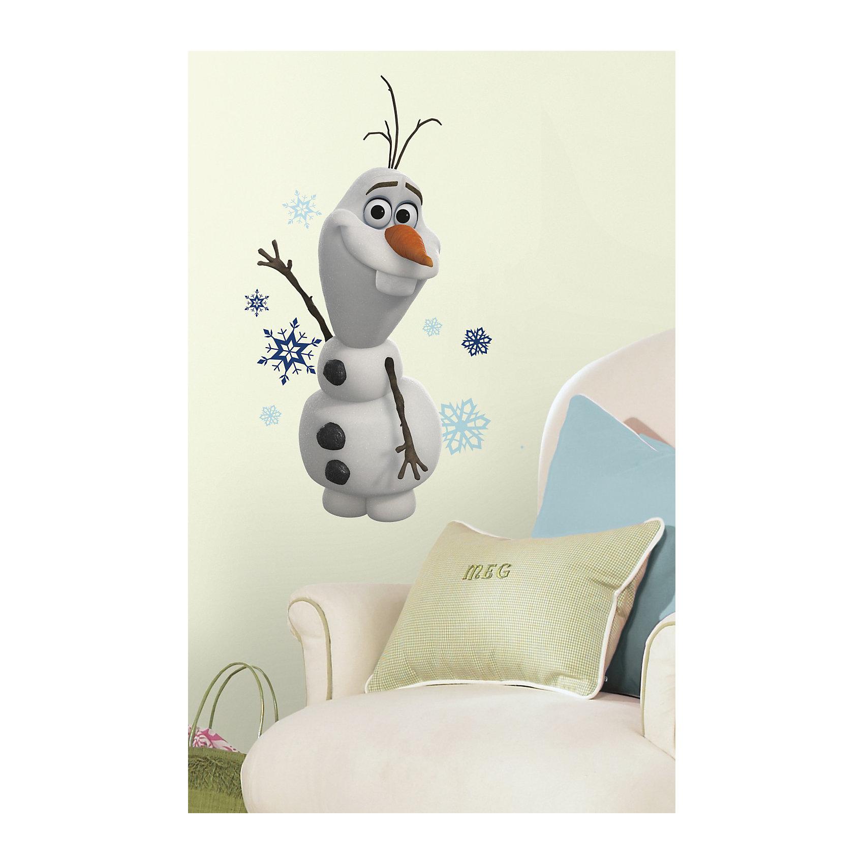 RoomMates Наклейки для декора Снеговик Олаф, Холодное сердце сердце вдребезги или месть холодное блюдо