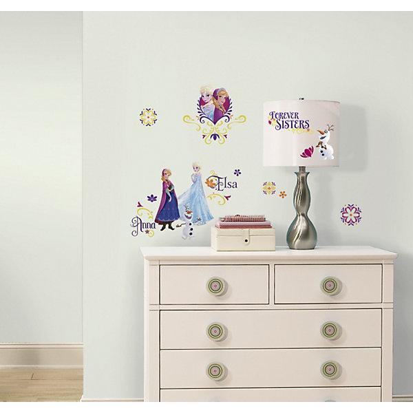 Наклеки для декора Холодное сердце (персонажи)Детские предметы интерьера<br>Наклейки для декора Холодное сердце, персонажи от знаменитого производителя RoomMates станут украшением вашей квартиры! Привнесите магию знаменитого мультфильма Диснея в комнату вашего ребенка с новым набором наклеек для декора! Наклейки, входящие в набор, содержат изображения основных персонажей знаменитого диснеевского мультфильма Холодное сердце – Эльзы и Анны. Всего в наборе 27 стикеров. Наклейки не нужно вырезать - их следует просто отсоединить от защитного слоя и поместить на стену или любую другую плоскую гладкую поверхность. Наклейки многоразовые: их легко переклеивать и снимать со стены, они не оставляют липких следов на поверхности. В каждой индивидуальной упаковке Вы можете найти 4 листа с различными наклейками! Таким образом, покупая наклейки фирмы RoomMates, Вы получаете гораздо больший ассортимент наклеек, имея возможность украсить ими различные поверхности в доме.<br><br>Ширина мм: 270<br>Глубина мм: 129<br>Высота мм: 27<br>Вес г: 156<br>Возраст от месяцев: 48<br>Возраст до месяцев: 1164<br>Пол: Женский<br>Возраст: Детский<br>SKU: 3901235