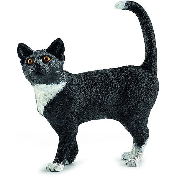 Кошка, SchleichМир животных<br>Кошка, Schleich (Шляйх) – это высококачественная коллекционная и игровая фигурка.<br>Очаровательная фигурка кошки прекрасно разнообразит игру вашего ребенка и станет отличным пополнением коллекции его фигурок домашних животных. Кошка – излюбленное и самое распространенное на земле животное, живущее в непосредственной близости к человеку. Не стоит забывать и об удивительной нежности и ласке, которую способны проявлять кошки. Ни один дом, ни одна ферма или хозяйство не обойдутся без этого животного, вносящего уют и покой в жилище человека. Игрушка выполнена в виде милой кошечки, которая стоит на четырех лапках. Основной цвет игрушки – черный. Шейка, лапки и кончик хвостика у кошки – белые. У нее яркие горящие глазки и приподнятая вверх мордочка. <br>Прекрасно выполненные фигурки Schleich (Шляйх) являются максимально точной копией настоящих животных и отличаются высочайшим качеством игрушек ручной работы. Каждая фигурка разработана с учетом исследований в области педагогики и производится как настоящее произведение для маленьких детских ручек. Все фигурки Schleich (Шляйх) сделаны из гипоаллергенных высокотехнологичных материалов, раскрашены вручную и не вызывают аллергии у ребенка.<br><br>Дополнительная информация:<br><br>- Размер фигурки: 6 x 5,5 x 2 см.<br>- Материал: высококачественный каучуковый пластик<br><br>Фигурку Кошки, Schleich (Шляйх) можно купить в нашем интернет-магазине.<br>Ширина мм: 93; Глубина мм: 7; Высота мм: 35; Вес г: 15; Возраст от месяцев: 36; Возраст до месяцев: 96; Пол: Унисекс; Возраст: Детский; SKU: 3902495;