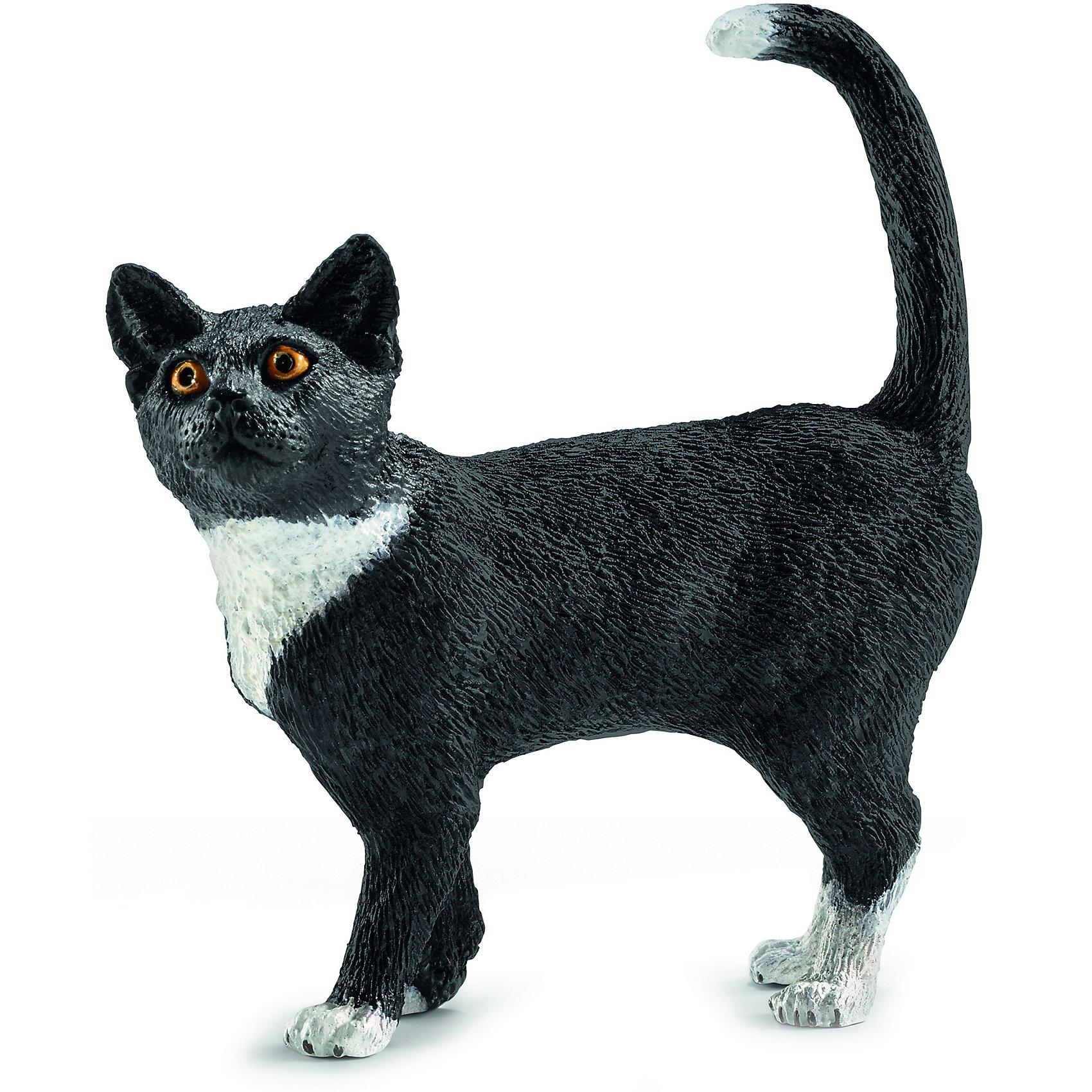 Кошка, SchleichМир животных<br>Кошка, Schleich (Шляйх) – это высококачественная коллекционная и игровая фигурка.<br>Очаровательная фигурка кошки прекрасно разнообразит игру вашего ребенка и станет отличным пополнением коллекции его фигурок домашних животных. Кошка – излюбленное и самое распространенное на земле животное, живущее в непосредственной близости к человеку. Не стоит забывать и об удивительной нежности и ласке, которую способны проявлять кошки. Ни один дом, ни одна ферма или хозяйство не обойдутся без этого животного, вносящего уют и покой в жилище человека. Игрушка выполнена в виде милой кошечки, которая стоит на четырех лапках. Основной цвет игрушки – черный. Шейка, лапки и кончик хвостика у кошки – белые. У нее яркие горящие глазки и приподнятая вверх мордочка. <br>Прекрасно выполненные фигурки Schleich (Шляйх) являются максимально точной копией настоящих животных и отличаются высочайшим качеством игрушек ручной работы. Каждая фигурка разработана с учетом исследований в области педагогики и производится как настоящее произведение для маленьких детских ручек. Все фигурки Schleich (Шляйх) сделаны из гипоаллергенных высокотехнологичных материалов, раскрашены вручную и не вызывают аллергии у ребенка.<br><br>Дополнительная информация:<br><br>- Размер фигурки: 6 x 5,5 x 2 см.<br>- Материал: высококачественный каучуковый пластик<br><br>Фигурку Кошки, Schleich (Шляйх) можно купить в нашем интернет-магазине.<br><br>Ширина мм: 67<br>Глубина мм: 2<br>Высота мм: 17<br>Вес г: 17<br>Возраст от месяцев: 36<br>Возраст до месяцев: 96<br>Пол: Унисекс<br>Возраст: Детский<br>SKU: 3902495