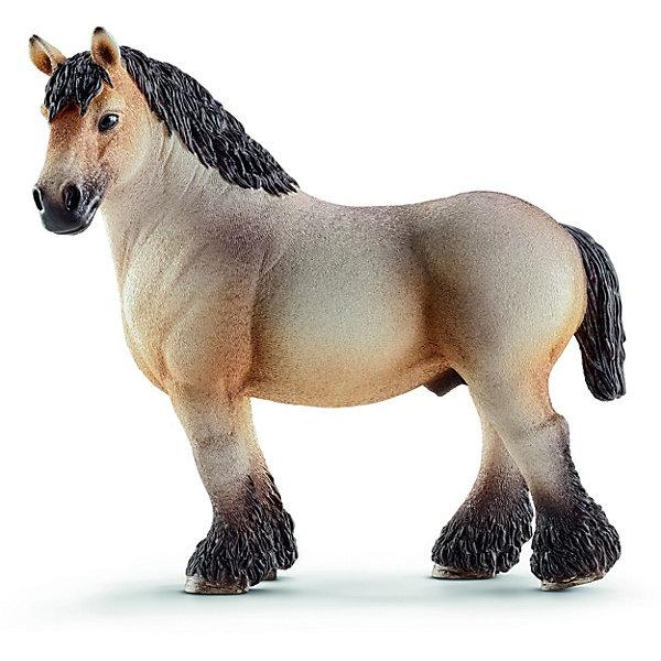 Арденский жеребец, SchleichМир животных<br>Арденский жеребец, Schleich (Шляйх) – это высококачественная коллекционная и игровая фигурка.<br>Фигурка Арденского жеребца прекрасно разнообразит игру вашего ребенка и станет отличным пополнением коллекции его фигурок животных. Арде?нская — одна из старейших пород тягловых лошадей, центром возникновения которой является область Арденнских гор в Бельгии, Люксембурге и Франции. Лошадь этой породы очень тяжеловесна и вынослива. Их использовали рыцари в своих боях. Эти лошади также использовались Наполеоном при транспортировке артиллерии и грузов. Лошади арденской породы массивного мускулистого телосложения с компактным телом, короткой спиной и короткими крепкими ногами. Голова лошади тяжелая с широким лбом и прямым или слегка выпуклым профилем. <br><br>Прекрасно выполненные фигурки Schleich (Шляйх) являются максимально точной копией настоящих животных и отличаются высочайшим качеством игрушек ручной работы. Каждая фигурка разработана с учетом исследований в области педагогики и производится как настоящее произведение для маленьких детских ручек. Все фигурки Schleich (Шляйх) сделаны из гипоаллергенных высокотехнологичных материалов, раскрашены вручную и не вызывают аллергии у ребенка.<br><br>Дополнительная информация:<br><br>- Размер фигурки: 11,5 x 11,5 x 5,5 см.<br>- Материал: высококачественный каучуковый пластик<br><br>Фигурку Арденского жеребца, Schleich (Шляйх) можно купить в нашем интернет-магазине.<br><br>Ширина мм: 162<br>Глубина мм: 121<br>Высота мм: 58<br>Вес г: 176<br>Возраст от месяцев: 36<br>Возраст до месяцев: 96<br>Пол: Женский<br>Возраст: Детский<br>SKU: 3902503