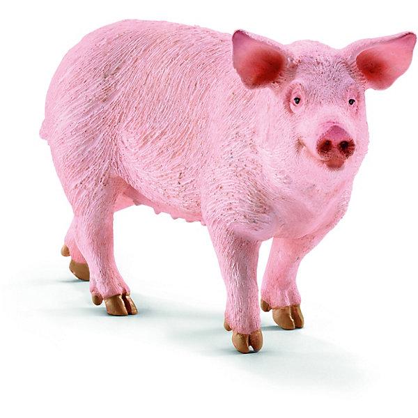 Свинья, SchleichМир животных<br>Свинья, Schleich (Шляйх) – это высококачественная коллекционная и игровая фигурка.<br>Фигурка Свиньи прекрасно разнообразит игру вашего ребенка и станет отличным пополнением коллекции его фигурок животных. Свиньи являются одним из важнейших сельскохозяйственных животных. Бытует ошибочное мнение, что свиньи имеют пристрастие к валянию в грязи просто из любви к ней; на самом деле свиньи, таким образом, избавляются от кожных паразитов: высыхая, грязь отпадает вместе с паразитами. Кроме того, валяние в грязи служит им для охлаждения организма в жаркую погоду. Свиньи, являются очень умными животными и легко поддаются дрессировки. <br><br>Прекрасно выполненные фигурки Schleich (Шляйх) являются максимально точной копией настоящих животных и отличаются высочайшим качеством игрушек ручной работы. Каждая фигурка разработана с учетом исследований в области педагогики и производится как настоящее произведение для маленьких детских ручек. Все фигурки Schleich (Шляйх) сделаны из гипоаллергенных высокотехнологичных материалов, раскрашены вручную и не вызывают аллергии у ребенка.<br><br>Дополнительная информация:<br><br>- Размер фигурки: 5,7 x 1,5 x 3,2 см.<br>- Материал: высококачественный каучуковый пластик<br><br>Фигурку Свиньи, Schleich (Шляйх) можно купить в нашем интернет-магазине.<br><br>Ширина мм: 101<br>Глубина мм: 58<br>Высота мм: 30<br>Вес г: 55<br>Возраст от месяцев: 36<br>Возраст до месяцев: 96<br>Пол: Унисекс<br>Возраст: Детский<br>SKU: 3902507