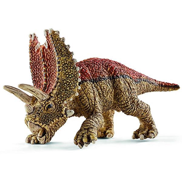 Пентацератопс, мини, SchleichМир животных<br>Древний динозавр Пентацератопс, проживающий на земле много миллионов лет назад, представлен немецкой компанией Schleich (Шляйх) в виде идущего на четырех лапах динозавра коричневого цвета. <br><br>У Пентацератопса огромная голова с пятью рогами и специальной защитой-воротником от врагов. Пентацератопс обладает самым большим черепом из всех известных наземных животных. <br><br>Игрушка динозавра выполнена из качественного каучукового пластика, который безопасен для детей и не вызывает аллергию. <br><br>Дополнительная информация:<br><br>Материал: каучуковый пластик<br>Размеры: 6.8 x 3.2 x 2.9 см.<br><br>Пентацератопса, мини, Schleich (Шляйх) можно купить в нашем магазине.<br><br>Ширина мм: 73<br>Глубина мм: 96<br>Высота мм: 22<br>Вес г: 9<br>Возраст от месяцев: 36<br>Возраст до месяцев: 96<br>Пол: Мужской<br>Возраст: Детский<br>SKU: 3902518