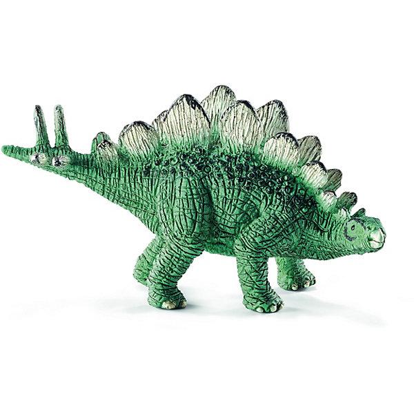 Стегозавр, мини, SchleichМир животных<br>Древнее животное Стегозавр, проживающее на земле много миллионов лет назад, представлен немецкой компанией Schleich (Шляйх) в виде фигурки динозавра, идущего на четырех лапах. <br><br>Стегозавр - один из самых известных динозавров на свете. У него большие острые пластины на спине и длинный хвост с острыми шипами. <br>Игрушка динозавра выполнена из качественного каучукового пластика, который безопасен для детей и не вызывает аллергию.<br><br>Прекрасно выполненные фигурки Шляйх отличаются высочайшим качеством игрушек ручной работы. Все они создаются при постоянном сотрудничестве с Берлинским зоопарком, а потому, являются максимально точной копией настоящих животных. Каждая фигурка разработана с учетом исследований в области педагогики и производится как настоящее произведение для маленьких детских ручек. <br><br>Дополнительная информация:<br><br>Материал: каучуковый пластик<br>Размеры: : 6.5 x 3.5 x 2.6 см<br><br>Стегозавра, мини, Schleich (Шляйх) можно купить в нашем магазине.<br><br>Ширина мм: 70<br>Глубина мм: 35<br>Высота мм: 30<br>Вес г: 15<br>Возраст от месяцев: 36<br>Возраст до месяцев: 96<br>Пол: Мужской<br>Возраст: Детский<br>SKU: 3902520