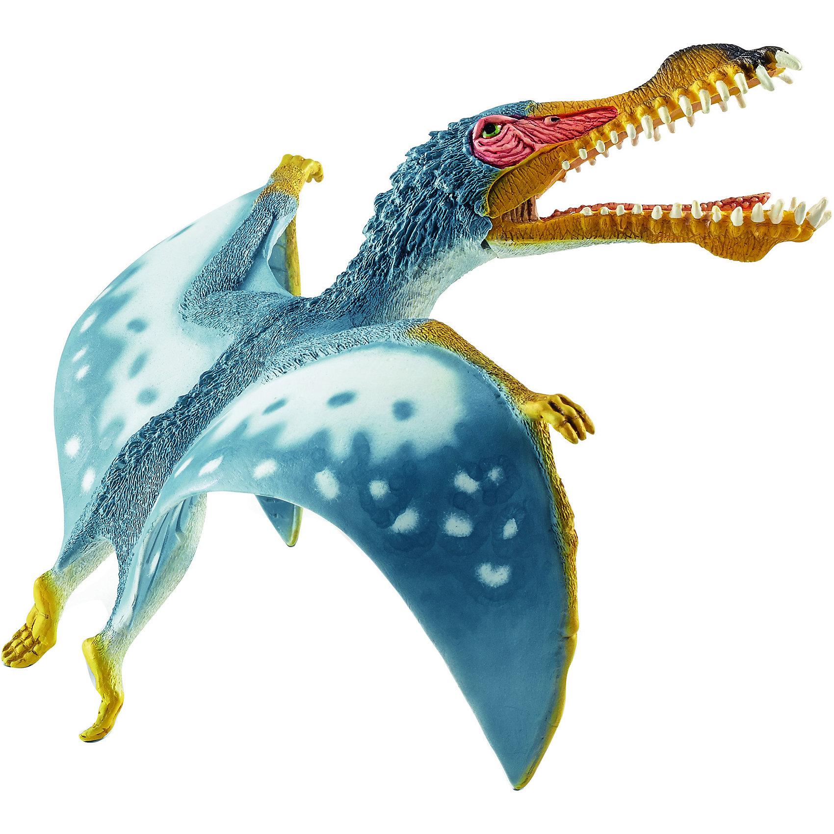 Анханкуера, SchleichДраконы и динозавры<br>Анханкуера, Schleich (Шляйх) – это высококачественная коллекционная и игровая фигурка.<br>Древнее животное Анханкуера представлено в виде фигурки птерозавра и непременно порадует маленьких любителей доисторических животных своей реалистичностью. Этот птерозавр имел узкое тело, длинный череп, похожий на голову крокодила, длинные острые зубы и очень широкие крылья. Их размах доходил до 4-х метров. <br>Прекрасно выполненные фигурки Schleich (Шляйх) отличаются высочайшим качеством игрушек ручной работы. Каждая фигурка разработана с учетом исследований в области педагогики и производится как настоящее произведение для маленьких детских ручек. Все фигурки Schleich (Шляйх) сделаны из гипоаллергенных высокотехнологичных материалов, раскрашены вручную и не вызывают аллергии у ребенка.<br><br>Дополнительная информация:<br><br>- Размер фигурки: 6 х 14,2 х 14 см.<br>- Материал: высококачественный каучуковый пластик<br><br>Фигурку Анханкуера, Schleich (Шляйх) можно купить в нашем интернет-магазине.<br><br>Ширина мм: 78<br>Глубина мм: 180<br>Высота мм: 4<br>Вес г: 62<br>Возраст от месяцев: 36<br>Возраст до месяцев: 96<br>Пол: Мужской<br>Возраст: Детский<br>SKU: 3902523