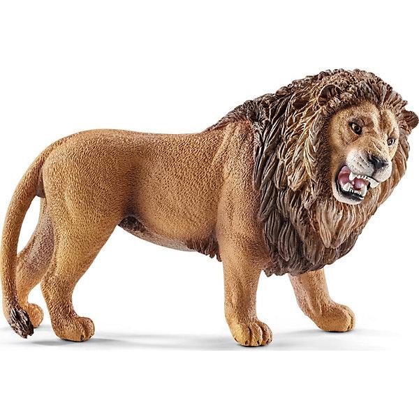 Лев, SchleichМир животных<br>Лев, Schleich (Шляйх) – это высококачественная коллекционная и игровая фигурка.<br>Фигурка Льва прекрасно разнообразит игру вашего ребенка и станет отличным пополнением коллекции его фигурок животных. Львы живут в основном саваннах. Львиная семья называется прайд. В прайде обычно один лев-самец, редко два льва, несколько самок-родственниц и их потомство. Лев редко принимает участие в охоте, его задача вспугивать жертву, выгоняя ее на приготовленную львицами засаду. Антилопы, зебры, жирафы, редко слонята и бегемоты составляют рацион львиной семьи. Львиный рык очень громкий, слышен на расстоянии свыше 5 миль. Рыком львы обозначают свое присутствие и предупреждают чужаков, что территория занята. Фигурка льва выполнена в бежево-коричневом цвете. У льва приоткрытый рот, большая грива и выразительные яркие глаза. <br>Прекрасно выполненные фигурки Schleich (Шляйх) являются максимально точной копией настоящих животных и отличаются высочайшим качеством игрушек ручной работы. Каждая фигурка разработана с учетом исследований в области педагогики и производится как настоящее произведение для маленьких детских ручек. Все фигурки Schleich (Шляйх) сделаны из гипоаллергенных высокотехнологичных материалов, раскрашены вручную и не вызывают аллергии у ребенка.<br><br>Дополнительная информация:<br><br>- Размер фигурки: 6,6 x 1,7 x 5,6 см.<br>- Материал: высококачественный каучуковый пластик<br><br>Фигурку Льва, Schleich (Шляйх) можно купить в нашем интернет-магазине.<br><br>Ширина мм: 109<br>Глубина мм: 76<br>Высота мм: 43<br>Вес г: 89<br>Возраст от месяцев: 36<br>Возраст до месяцев: 96<br>Пол: Унисекс<br>Возраст: Детский<br>SKU: 3902533