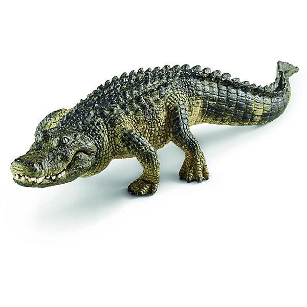 Крокодил, SchleichМир животных<br>Крокодил, Schleich (Шляйх) – это высококачественная коллекционная и игровая фигурка.<br>Фигурка Крокодила прекрасно разнообразит игру вашего ребенка и станет отличным пополнением коллекции его фигурок животных. Аллигаторы проживают в реках и озерах юго-восточной части Соединенных Штатов и Китая. По сравнению с морскими крокодилами их тело меньше и шире. Кожа крокодилов покрыта прямоугольными роговыми щитками, которые на спине и животе располагаются правильными рядами. У них короткие и сильные лапы, большая треугольная голова, короткая шея, вытянутая морда, крепкие челюсти с острыми зубами и очень высоко посаженные глаза. Удлиненная форма тела облегчает плавание, плоский и мощный хвост выполняет функцию двигательного органа. Фигурка выполнена в бежево-зеленом цвете. Челюсть подвижна, что делает фигурку интересной для игры. <br>Прекрасно выполненные фигурки Schleich (Шляйх) являются максимально точной копией настоящих животных и отличаются высочайшим качеством игрушек ручной работы. Каждая фигурка разработана с учетом исследований в области педагогики и производится как настоящее произведение для маленьких детских ручек. Все фигурки Schleich (Шляйх) сделаны из гипоаллергенных высокотехнологичных материалов, раскрашены вручную и не вызывают аллергии у ребенка.<br><br>Дополнительная информация:<br><br>- Размер фигурки: 3,7 x 5,9 x 19 см.<br>- Материал: высококачественный каучуковый пластик<br><br>Фигурку Крокодила, Schleich (Шляйх) можно купить в нашем интернет-магазине.<br><br>Ширина мм: 193<br>Глубина мм: 66<br>Высота мм: 40<br>Вес г: 88<br>Возраст от месяцев: 36<br>Возраст до месяцев: 96<br>Пол: Унисекс<br>Возраст: Детский<br>SKU: 3902534