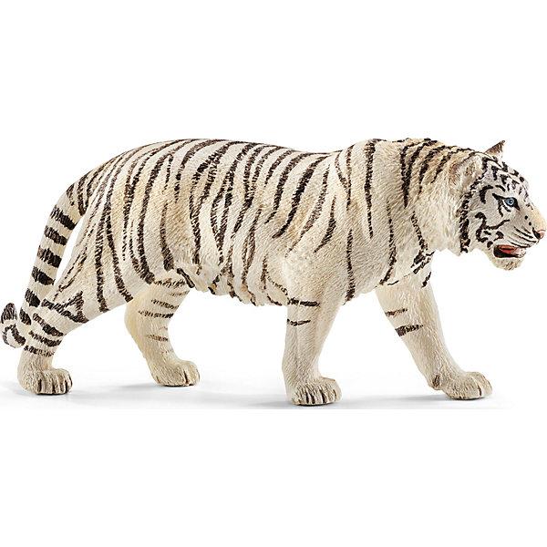 Тигр белый, SchleichМир животных<br>Тигр белый, Schleich (Шляйх) – это высококачественная коллекционная и игровая фигурка.<br>Фигурка Тигра белого прекрасно разнообразит игру вашего ребенка и станет отличным пополнением коллекции его фигурок животных. Белые тигры невероятно красивые и редкие животные. Отдельным подвидом не считаются. Альбиносами их тоже считать нельзя - иначе плоски тоже должны быть белыми.  А у этого тигра белая шкура, чёрные полосы и всегда голубые глаза. Как правило, белые тигры мельче обычных бенгальских. Белые тигры остались только в зоопарках. Печально, но последний белый тигр в природе был застрелен в 1958 году. <br>Прекрасно выполненные фигурки Schleich (Шляйх) являются максимально точной копией настоящих животных и отличаются высочайшим качеством игрушек ручной работы. Каждая фигурка разработана с учетом исследований в области педагогики и производится как настоящее произведение для маленьких детских ручек. Все фигурки Schleich (Шляйх) сделаны из гипоаллергенных высокотехнологичных материалов, раскрашены вручную и не вызывают аллергии у ребенка.<br><br>Дополнительная информация:<br><br>- Размер фигурки: 6 x 13 x 3 см.<br>- Материал: высококачественный каучуковый пластик<br><br>Фигурку Тигра белого, Schleich (Шляйх) можно купить в нашем интернет-магазине.<br>Ширина мм: 122; Глубина мм: 71; Высота мм: 32; Вес г: 72; Возраст от месяцев: 36; Возраст до месяцев: 96; Пол: Унисекс; Возраст: Детский; SKU: 3902538;
