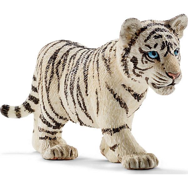 Тигренок белый, SchleichМир животных<br>Тигренок белый, Schleich (Шляйх) – это высококачественная коллекционная и игровая фигурка.<br>Фигурка белого тигренка прекрасно разнообразит игру вашего ребенка и станет отличным пополнением коллекции его фигурок животных. Белые тигры невероятно красивые и редкие животные. Отдельным подвидом не считаются. Альбиносами их тоже считать нельзя - иначе плоски тоже должны быть белыми. А у этого тигра белая шкура, чёрные полосы и всегда голубые глаза. Как правило, белые тигры мельче обычных бенгальских. Белые тигры остались только в зоопарках. Печально, но последний белый тигр в природе был застрелен в 1958 году. <br>Прекрасно выполненные фигурки Schleich (Шляйх) являются максимально точной копией настоящих животных и отличаются высочайшим качеством игрушек ручной работы. Каждая фигурка разработана с учетом исследований в области педагогики и производится как настоящее произведение для маленьких детских ручек. Все фигурки Schleich (Шляйх) сделаны из гипоаллергенных высокотехнологичных материалов, раскрашены вручную и не вызывают аллергии у ребенка.<br><br>Дополнительная информация:<br><br>- Размер фигурки: 4 x 7 x 2 см.<br>- Материал: высококачественный каучуковый пластик<br><br>Фигурку Тигренка белого, Schleich (Шляйх) можно купить в нашем интернет-магазине.<br><br>Ширина мм: 73<br>Глубина мм: 25<br>Высота мм: 35<br>Вес г: 1<br>Возраст от месяцев: 36<br>Возраст до месяцев: 96<br>Пол: Унисекс<br>Возраст: Детский<br>SKU: 3902539
