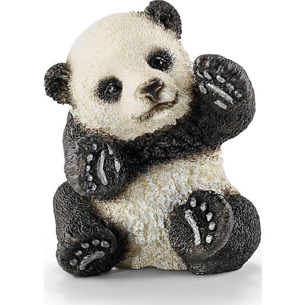Детёныш панды, SchleichМир животных<br>Детёныш панды, Schleich (Шляйх) – это высококачественная коллекционная и игровая фигурка.<br>Фигурка Детёныша панды прекрасно разнообразит игру вашего ребенка и станет отличным пополнением коллекции его фигурок животных. Большая панда - одно из самых известных, но в тоже время и самых редких животных на планете. Детёныши панды рождаются очень маленькими, весом до 100 гр. К концу первого месяца у детеныша панды отрастает мех с черными отметинами. Ходить детеныш панды начинают только с трех месяцев, а до этого возраста мама-панда постоянно носит его на себе. Детеныши остаются со своими матерями от полутора до трех лет, потом он покидает мать и начинает самостоятельную жизнь. <br>Прекрасно выполненные фигурки Schleich (Шляйх) являются максимально точной копией настоящих животных и отличаются высочайшим качеством игрушек ручной работы. Каждая фигурка разработана с учетом исследований в области педагогики и производится как настоящее произведение для маленьких детских ручек. Все фигурки Schleich (Шляйх) сделаны из гипоаллергенных высокотехнологичных материалов, раскрашены вручную и не вызывают аллергии у ребенка.<br><br>Дополнительная информация:<br><br>- Размер фигурки: 4,5 х 3,5 х 4 см.<br>- Материал: высококачественный каучуковый пластик<br><br>Фигурку Детёныша панды, Schleich (Шляйх) можно купить в нашем интернет-магазине.<br><br>Ширина мм: 52<br>Глубина мм: 48<br>Высота мм: 53<br>Вес г: 4<br>Возраст от месяцев: 36<br>Возраст до месяцев: 96<br>Пол: Унисекс<br>Возраст: Детский<br>SKU: 3902541