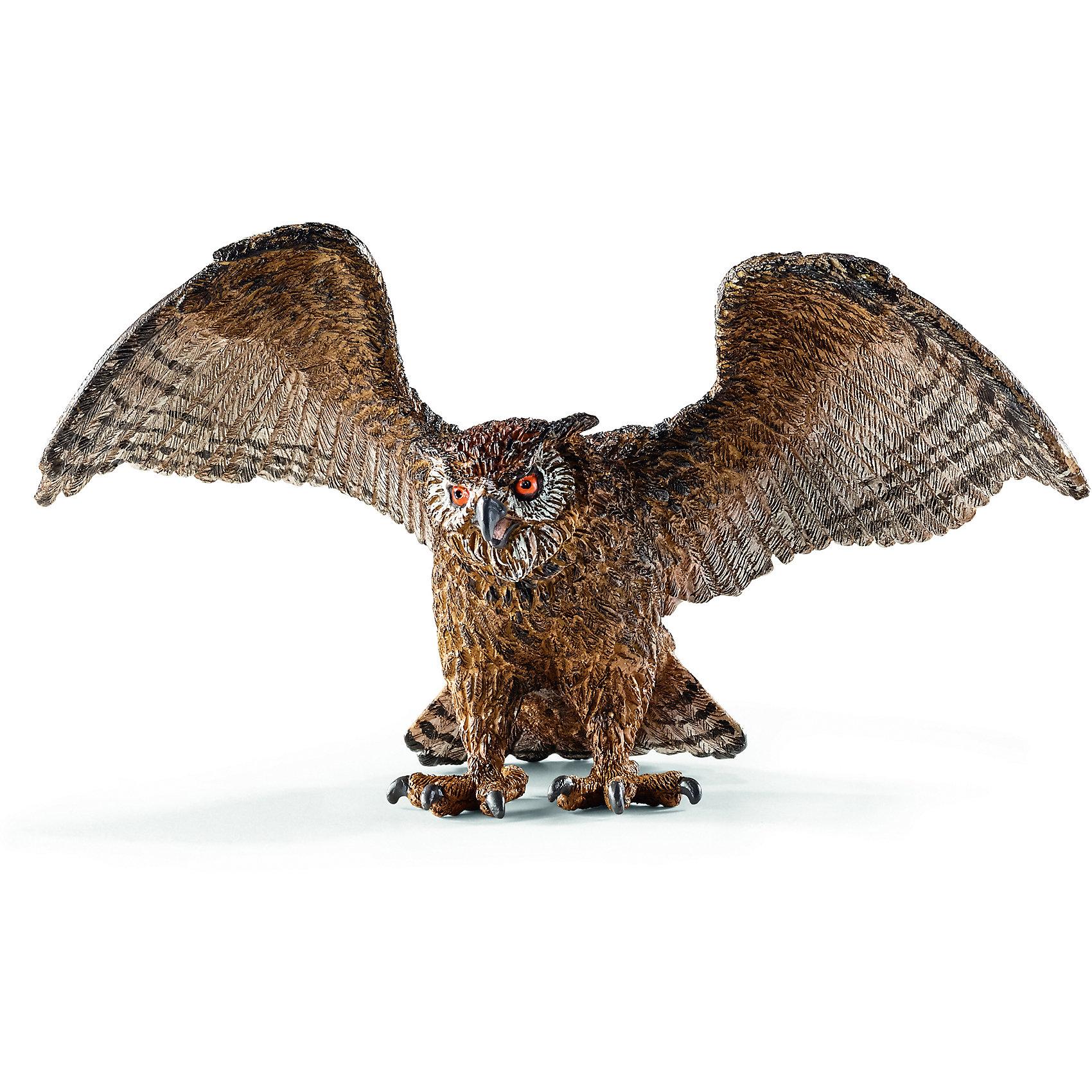 Филин, SchleichФилин, Schleich (Шляйх) – это высококачественная коллекционная и игровая фигурка.<br>Фигурка Филина компании Schleich (Шляйх) порадует всех любителей животных и птиц, и станет замечательным подарком или уникальным дополнением коллекции миниатюрных игрушек. Филин — один из наиболее широко распространённых видов сов. Он живёт и в Северной Африке, и в Европе, и в Азии. Филин — ночной охотник. Он выходит на охоту в сумерках, около полуночи делает перерыв, а затем продолжает охоту до рассвета. Для филина характерны глубокие и размеренные взмахи широких крыльев. Как правило, эта птица неторопливо летает над землёй, высматривая добычу, чередуя машущий полёт с непродолжительным планированием. <br>Прекрасно выполненные фигурки Schleich (Шляйх) являются максимально точной копией настоящих животных и птиц, и отличаются высочайшим качеством игрушек ручной работы. Каждая фигурка разработана с учетом исследований в области педагогики и производится как настоящее произведение для маленьких детских ручек. Все фигурки Schleich (Шляйх) сделаны из гипоаллергенных высокотехнологичных материалов, раскрашены вручную и не вызывают аллергии у ребенка.<br><br>Дополнительная информация:<br><br>- Размер фигурки: 11 х 6 х 6 см.<br>- Материал: высококачественный каучуковый пластик<br><br>Фигурку Филина, Schleich (Шляйх) можно купить в нашем интернет-магазине.<br><br>Ширина мм: 91<br>Глубина мм: 98<br>Высота мм: 50<br>Вес г: 40<br>Возраст от месяцев: 36<br>Возраст до месяцев: 96<br>Пол: Унисекс<br>Возраст: Детский<br>SKU: 3902545