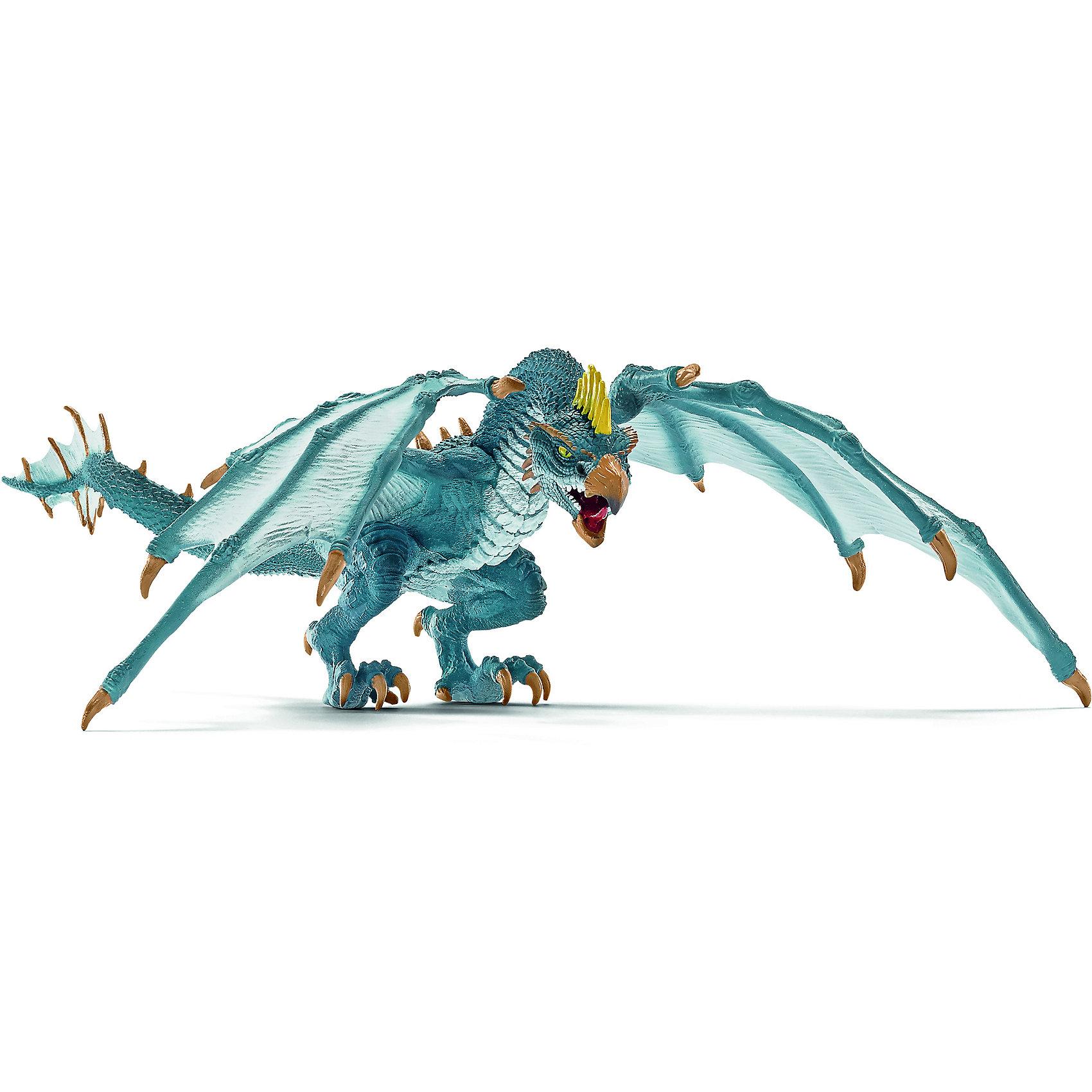 Дракон Летун, SchleichДраконы и динозавры<br>Дракон Летун, Schleich (Шляйх) – это высококачественная игровая фигурка.<br>Дракон Летун из серии Рыцари от Schleich (Шляйх) - восхитительная фигурка дракона, которая сделает игры с рыцарями и воинами еще увлекательнее. Летающий дракон - опасный и ловкий дракон. Он не зря получил прозвище Летун. Воздушный акробат, самый искусный и грозный воздушный вояка. Голова у дракона в виде головы птицы и имеет острый зубастый клюв. На крыльях жуткие и гигантские когти. Фигурка дракона выполнена в голубом цвете. <br>Прекрасно выполненные фигурки Schleich (Шляйх) отличаются высочайшим качеством игрушек ручной работы. Каждая фигурка разработана с учетом исследований в области педагогики и производится как настоящее произведение для маленьких детских ручек. Все фигурки Schleich (Шляйх) сделаны из гипоаллергенных высокотехнологичных материалов, раскрашены вручную и не вызывают аллергии у ребенка.<br><br>Дополнительная информация:<br><br>- Размер фигурки: 26 х 25 х 8,5 см.<br>- Материал: высококачественный каучуковый пластик<br><br>Фигурку Дракон Летун, Schleich (Шляйх) можно купить в нашем интернет-магазине.<br><br>Ширина мм: 234<br>Глубина мм: 256<br>Высота мм: 109<br>Вес г: 146<br>Возраст от месяцев: 36<br>Возраст до месяцев: 96<br>Пол: Мужской<br>Возраст: Детский<br>SKU: 3902628