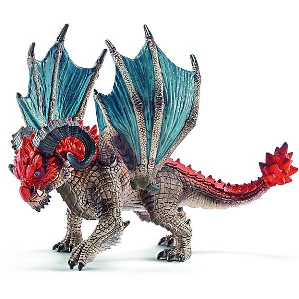 Дракон Таран, SchleichФигурки динозавров<br>Дракон Таран, Schleich (Шляйх) – это высококачественная игровая фигурка.<br>Дракон Таран из серии Рыцари от Schleich (Шляйх) - восхитительная фигурка дракона, которая сделает игры с рыцарями и воинами еще увлекательнее. Своими рогами дракон Таран может проломить даже ворота рыцарского замка. Там, где обычные драконы, применяют когти, Таран использует свои рога, не оставляя камня на камне. Дракон редко пользуется огненным дыханием, имеет острое зрение и отлично маскируется. <br>Прекрасно выполненные фигурки Schleich (Шляйх) отличаются высочайшим качеством игрушек ручной работы. Каждая фигурка разработана с учетом исследований в области педагогики и производится как настоящее произведение для маленьких детских ручек. Все фигурки Schleich (Шляйх) сделаны из гипоаллергенных высокотехнологичных материалов, раскрашены вручную и не вызывают аллергии у ребенка.<br><br>Дополнительная информация:<br><br>- Размер фигурки: 11,7 х 14,2 х 10,8 см.<br>- Материал: высококачественный каучуковый пластик<br><br>Фигурку Дракон Таран, Schleich (Шляйх) можно купить в нашем интернет-магазине.<br><br>Ширина мм: 214<br>Глубина мм: 139<br>Высота мм: 104<br>Вес г: 182<br>Возраст от месяцев: 36<br>Возраст до месяцев: 96<br>Пол: Мужской<br>Возраст: Детский<br>SKU: 3902630