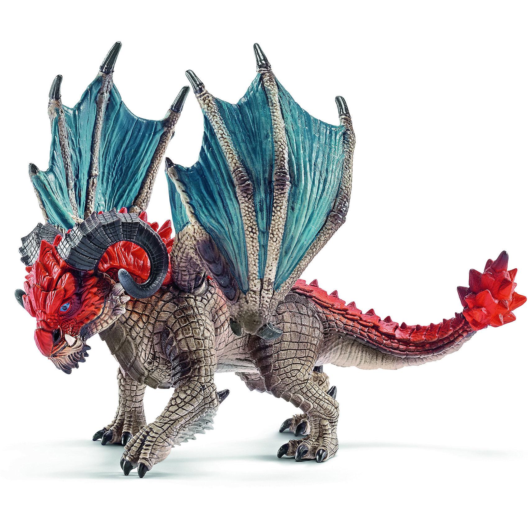 Дракон Таран, SchleichДраконы и динозавры<br>Дракон Таран, Schleich (Шляйх) – это высококачественная игровая фигурка.<br>Дракон Таран из серии Рыцари от Schleich (Шляйх) - восхитительная фигурка дракона, которая сделает игры с рыцарями и воинами еще увлекательнее. Своими рогами дракон Таран может проломить даже ворота рыцарского замка. Там, где обычные драконы, применяют когти, Таран использует свои рога, не оставляя камня на камне. Дракон редко пользуется огненным дыханием, имеет острое зрение и отлично маскируется. <br>Прекрасно выполненные фигурки Schleich (Шляйх) отличаются высочайшим качеством игрушек ручной работы. Каждая фигурка разработана с учетом исследований в области педагогики и производится как настоящее произведение для маленьких детских ручек. Все фигурки Schleich (Шляйх) сделаны из гипоаллергенных высокотехнологичных материалов, раскрашены вручную и не вызывают аллергии у ребенка.<br><br>Дополнительная информация:<br><br>- Размер фигурки: 11,7 х 14,2 х 10,8 см.<br>- Материал: высококачественный каучуковый пластик<br><br>Фигурку Дракон Таран, Schleich (Шляйх) можно купить в нашем интернет-магазине.<br><br>Ширина мм: 214<br>Глубина мм: 139<br>Высота мм: 104<br>Вес г: 182<br>Возраст от месяцев: 36<br>Возраст до месяцев: 96<br>Пол: Мужской<br>Возраст: Детский<br>SKU: 3902630