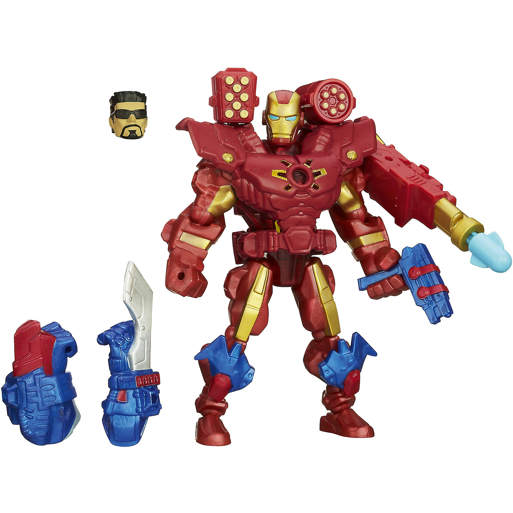 Hasbro Электронная разборная фигурка, Железный человек, Marvel Heroes marvel маска карнавальная детская железный человек