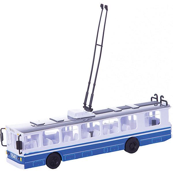 Троллейбус, со светом и звуком, ТЕХНОПАРКМашинки<br>Троллейбус, со светом и звуком, ТЕХНОПАРК – это точная копия троллейбуса, самого экологичного вида общественного городского транспорта.<br>Пластиковая модель троллейбуса серии Технопарк обладает высокой реалистичностью. У троллейбуса открываются двери, имеются звуковые и световые эффекты. Игрушка снабжена инерционным механизмом.<br><br>Дополнительная информация:<br><br>- Вес: 570 гр.<br>- Размер упаковки: 38 х 14 х 9 см.<br>- Материал: пластик<br><br>Троллейбус, со светом и звуком, ТЕХНОПАРК можно купить в нашем интернет-магазине.<br><br>Ширина мм: 380<br>Глубина мм: 140<br>Высота мм: 90<br>Вес г: 570<br>Возраст от месяцев: 12<br>Возраст до месяцев: 84<br>Пол: Унисекс<br>Возраст: Детский<br>SKU: 3905336
