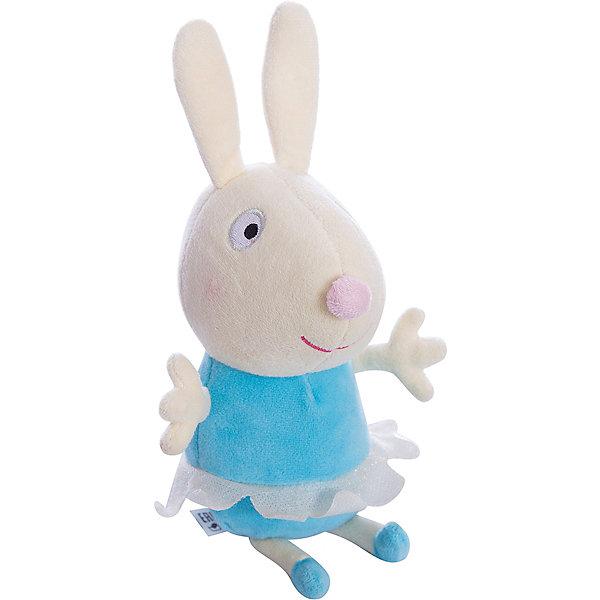 Игрушка Кролик Ребекка балерина, 20 см, Свинка ПеппаМягкие игрушки из мультфильмов<br>Линейка мягких игрушек Балерины, Свинка Пеппа (Peppa Pig ), создана по мотивам серии мультфильма Урок балета. Игрушка  Кролик Ребекка балерина одета в веселую юбочку из ткани. Эта очаровательная мягкая игрушка очень приятна на ощупь, так как изготовлена из велюровой ткани и плотно набита. Также из данной серии вы можете выбрать следующие игрушки: Кролик Ребекка балерина, Пеппа балерина, Кошечка Кэнди балерина. Собери всем мягких балерин и устрой веселое представление. Игрушка изготовлена из высококачественных материалов, безопасных для детей.<br><br>Дополнительная информация: <br> <br>- Материал: текстиль, синтепон.<br>- Размер: 20 см (с ножками).<br>- Цвет: голубой, бежевый..<br><br>Игрушку Кролик Ребекка балерина, 20 см, Свинка Пеппа (Peppa Pig ) можно купить в нашем магазине.<br>Ширина мм: 90; Глубина мм: 80; Высота мм: 200; Вес г: 60; Возраст от месяцев: 36; Возраст до месяцев: 84; Пол: Унисекс; Возраст: Детский; SKU: 3905898;