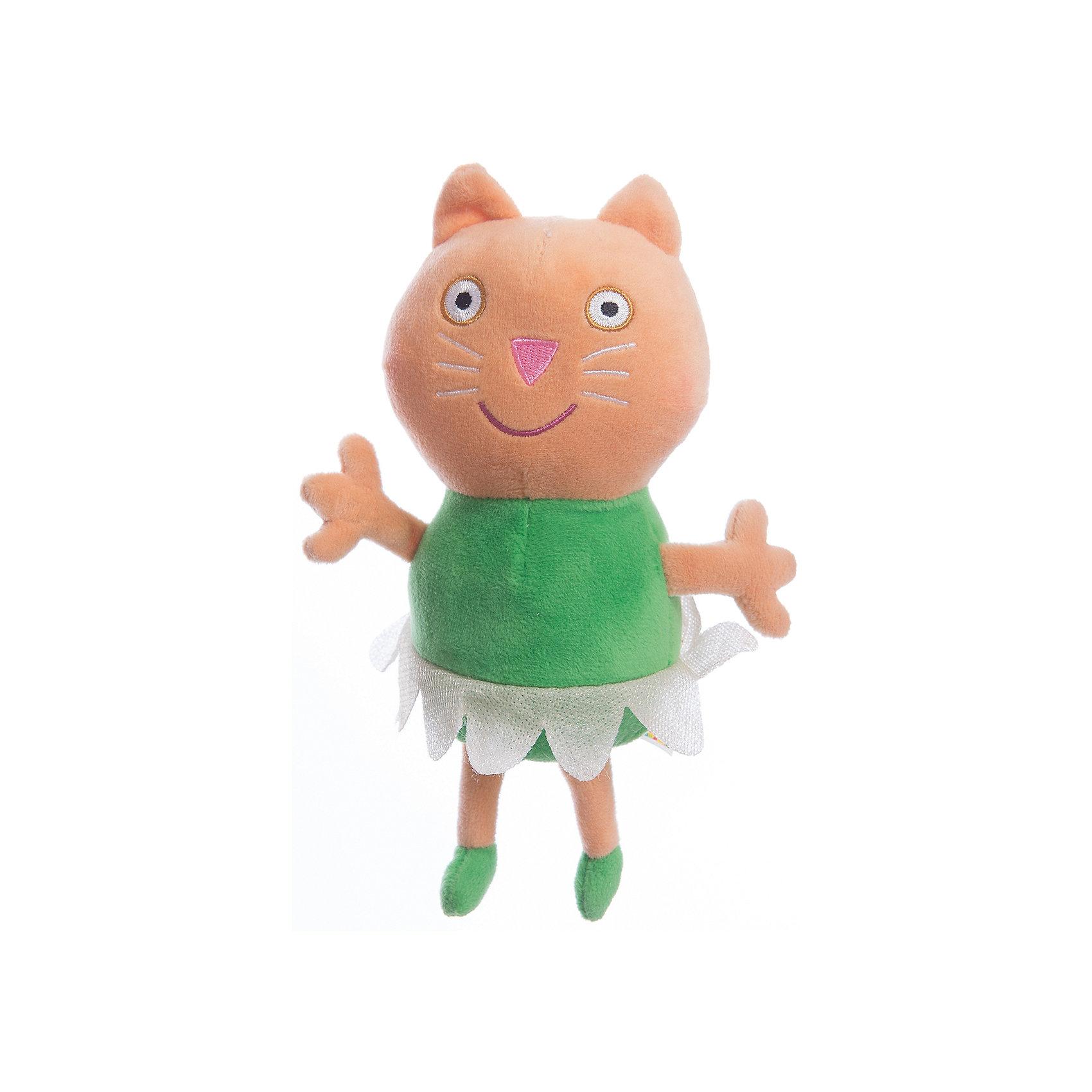 Игрушка  Котенок Кэнди балерина, 20 см, Свинка ПеппаИгрушки<br>Линейка мягких игрушек Балерины, Свинка Пеппа (Peppa Pig ), создана по мотивам серии мультфильма Урок балета. Игрушка  Котенок Кэнди балерина одета в веселую юбочку из ткани. Эта очаровательная мягкая игрушка очень приятна на ощупь, так как изготовлена из велюровой ткани и плотно набита. Также из данной серии вы можете выбрать следующие игрушки: Кролик Ребекка балерина, Пеппа балерина, Кошечка Кэнди балерина. Собери всем мягких балерин и устрой веселое представление. Игрушка изготовлена из высококачественных материалов, безопасных для детей.<br><br>Дополнительная информация: <br> <br>- Материал: текстиль, синтепон.<br>- Размер: 20 см (с ножками).<br>- Цвет: оранжевый, зеленый, белый.<br><br>Игрушку Котенок Кэнди балерина, 20 см, Свинка Пеппа (Peppa Pig ) можно купить в нашем магазине.<br><br>Ширина мм: 100<br>Глубина мм: 80<br>Высота мм: 200<br>Вес г: 70<br>Возраст от месяцев: 36<br>Возраст до месяцев: 84<br>Пол: Унисекс<br>Возраст: Детский<br>SKU: 3905903