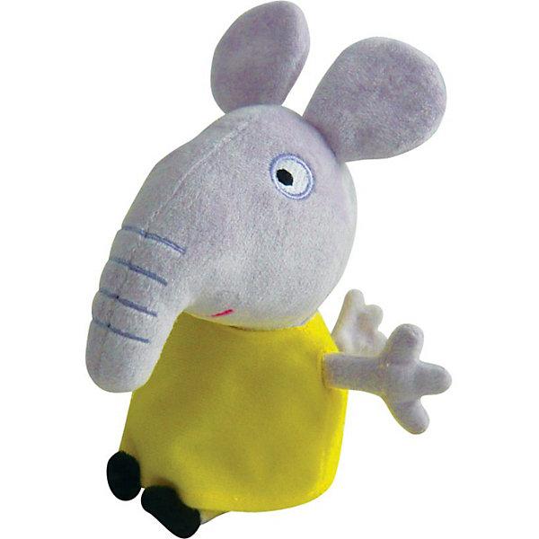 Игрушка  Слоник Эмили, 20 см, Свинка ПеппаМягкие игрушки из мультфильмов<br>Мягкая Игрушка  Слоник Эмили  Свинка Пеппа (Peppa Pig ) понравится любой малышке. Она составит компанию в игре, на прогулке или в детском саду, разделит с малюткой безмятежные сновидения во время отдыха. Эмили одета в яркое желтое платьице, которое можно легко снимать и одевать. Эта очаровательная мягкая игрушка очень приятна на ощупь, так как изготовлена из велюровой ткани и плотно набита.  Изготовленная из высококачественных гипоаллергенных материалов, она абсолютно безопасна для детей.<br><br>Дополнительная информация: <br> <br>- Материал: текстиль, синтепон.<br>- Размер: 20 см (с ножками).<br>- Цвет: серый, черный, желтый.<br><br>Игрушку Слоник Эмили, 20 см, Свинка Пеппа (Peppa Pig ) можно купить в нашем магазине.<br><br>Ширина мм: 100<br>Глубина мм: 80<br>Высота мм: 200<br>Вес г: 70<br>Возраст от месяцев: 36<br>Возраст до месяцев: 84<br>Пол: Унисекс<br>Возраст: Детский<br>SKU: 3905910