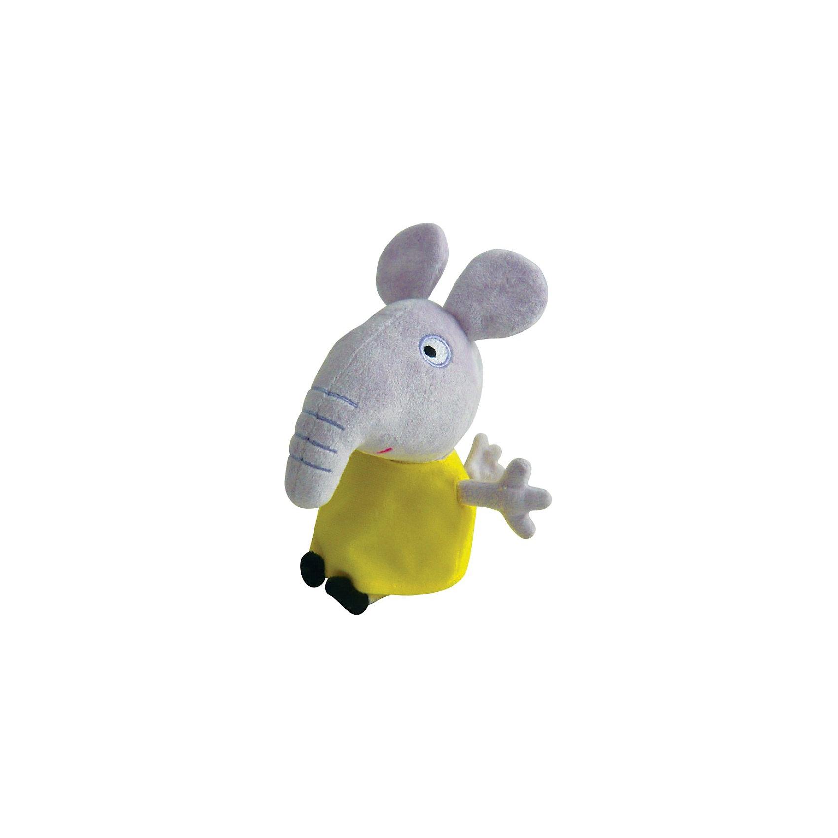 Игрушка  Слоник Эмили, 20 см, Свинка ПеппаМягкая Игрушка  Слоник Эмили  Свинка Пеппа (Peppa Pig ) понравится любой малышке. Она составит компанию в игре, на прогулке или в детском саду, разделит с малюткой безмятежные сновидения во время отдыха. Эмили одета в яркое желтое платьице, которое можно легко снимать и одевать. Эта очаровательная мягкая игрушка очень приятна на ощупь, так как изготовлена из велюровой ткани и плотно набита.  Изготовленная из высококачественных гипоаллергенных материалов, она абсолютно безопасна для детей.<br><br>Дополнительная информация: <br> <br>- Материал: текстиль, синтепон.<br>- Размер: 20 см (с ножками).<br>- Цвет: серый, черный, желтый.<br><br>Игрушку Слоник Эмили, 20 см, Свинка Пеппа (Peppa Pig ) можно купить в нашем магазине.<br><br>Ширина мм: 100<br>Глубина мм: 80<br>Высота мм: 200<br>Вес г: 70<br>Возраст от месяцев: 36<br>Возраст до месяцев: 2147483647<br>Пол: Унисекс<br>Возраст: Детский<br>SKU: 3905910