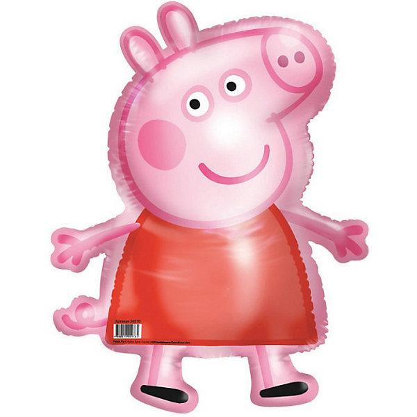 Фольгированный шар Свинка Пеппа 41*60смСвинка Пеппа<br>Шар фигурный Свинка Пеппа станет замечательным украшением детского праздника и сделает его ярче и веселее. Красочный фольгированный шар выполнен в виде фигурки забавной свинки Пеппы, главной героини популярного мультсериала Свинка Пеппа (Peppa Pig). Игрушка изготовлена из миларовой пленки и надувается гелием, поставляется не надутой.<br><br>Дополнительная информация:<br><br>- Материал: миларовая пленка.<br>- Размер шара: 41 х 60 см.<br>- Вес: 12 гр.<br><br>Шар фигурный Свинка Пеппа можно купить в нашем интернет-магазине.<br><br>Ширина мм: 205<br>Глубина мм: 240<br>Высота мм: 1<br>Вес г: 12<br>Возраст от месяцев: 36<br>Возраст до месяцев: 96<br>Пол: Унисекс<br>Возраст: Детский<br>SKU: 3907724