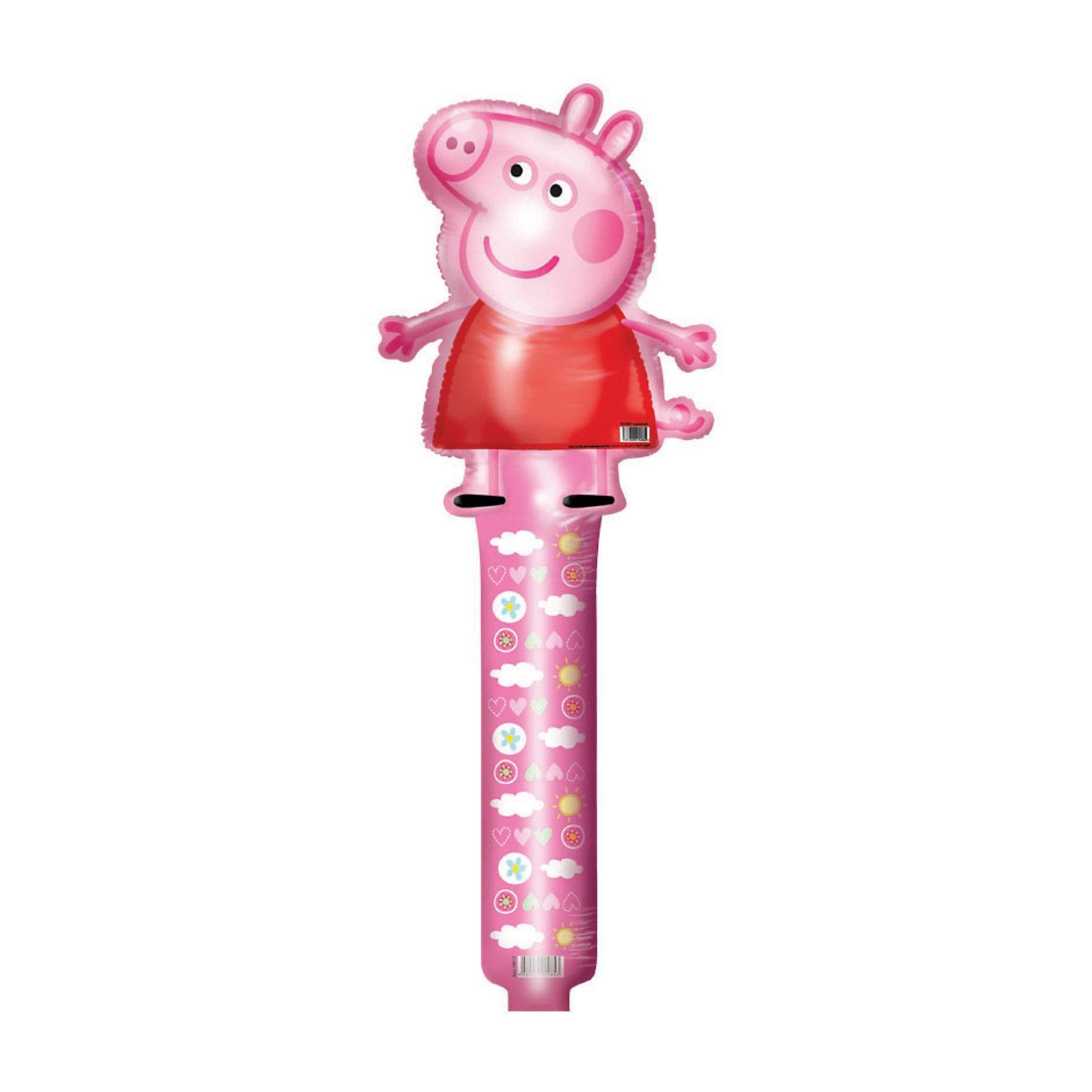 Шар фигурный Свинка ПеппаШар фигурный Свинка Пеппа станет замечательным украшением детского праздника и сделает его ярче и веселее. Красочный фольгированный шар выполнен в виде фигурки забавной свинки Пеппы, главной героини популярного мультсериала Свинка Пеппа (Peppa Pig). Игрушка изготовлена из миларовой пленки, гелий для надувания не требуется, поставляется не надутой.<br><br>Дополнительная информация:<br><br>- Материал: миларовая пленка.<br>- Размер шара: 66 см.<br>- Вес: 12 гр.<br><br>Шар фигурный Свинка Пеппа можно купить в нашем интернет-магазине.<br><br>Ширина мм: 100<br>Глубина мм: 10<br>Высота мм: 100<br>Вес г: 12<br>Возраст от месяцев: 36<br>Возраст до месяцев: 96<br>Пол: Унисекс<br>Возраст: Детский<br>SKU: 3907725