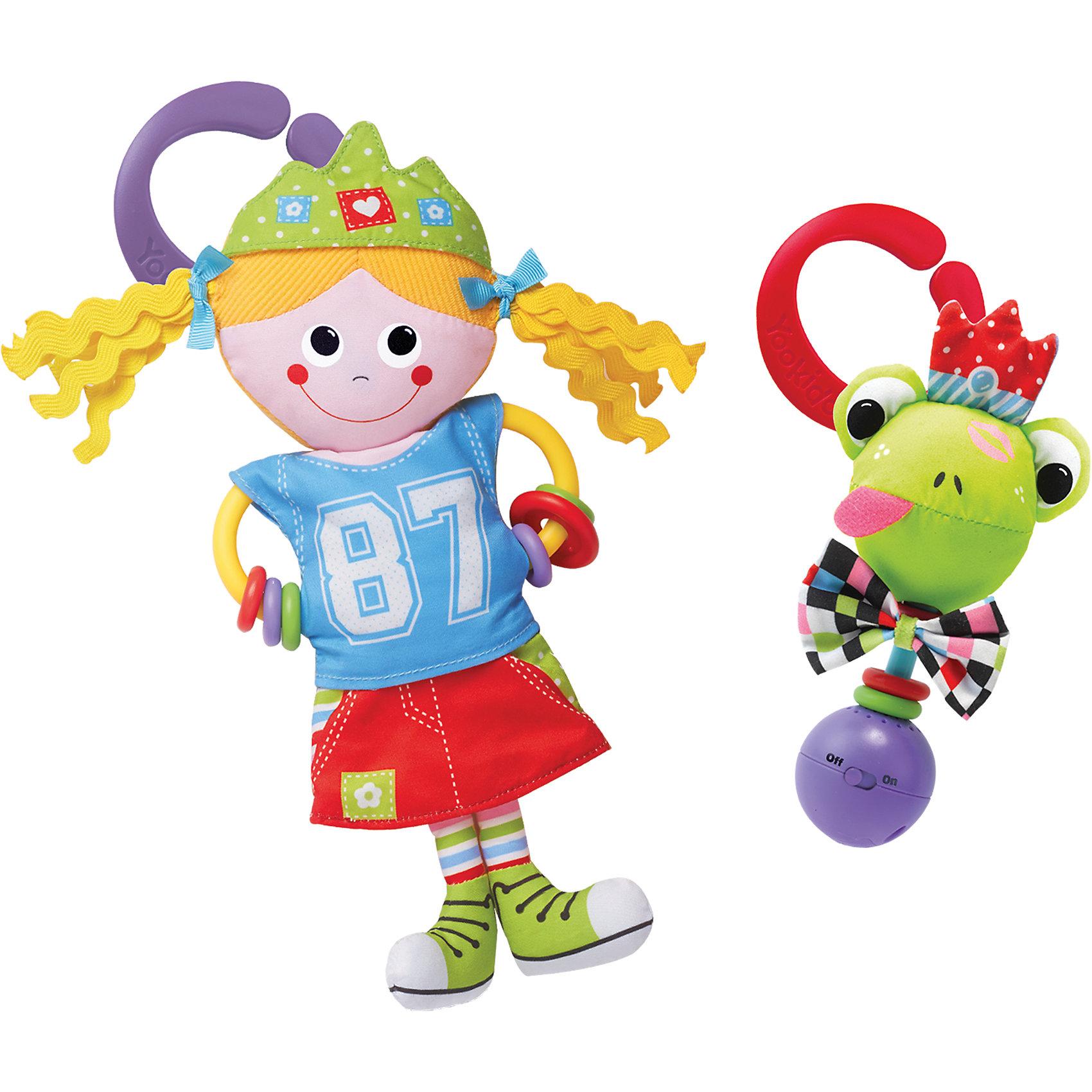Игрушка-погремушка Девочка в городе,  YookidooПогремушки<br>Первая игрушка вашего малыша. Игрушка Девочка в городе выполнена в ярком и красочном дизайне, который обязательно понравится крохе. Ребенок будет с удовольствием рассматривать свою первую и очень забавную игрушку. Помимо этого, игрушка сделана из материалов различной текстуры, для тренировки моторики пальчиков и развития тактильных ощущений. К Девочке в городе крепится прорезыватель со множеством разноцветных колечек, который непременно понадобится для чешущихся зубов. При необходимости, игрушку можно подвесить в коляску, кроватку, используя большое пластиковое кольцо. В комплект также входит музыкальная погремушка Лягушка. При встряхивании звучат смешные звуки. К лягушке прилагается пластиковое кольцо для подвешивания. Изделие выполнено из высококачественных материалов, безопасных для ребенка. Игрушка поможет вашему малышу  развить моторику рук, тактильные ощущения, слуховое восприятие. <br><br>Дополнительная информация:<br><br>- Комплектация: девочка с прорезывателем, погремушка-лягушка, пластиковое кольцо для подвешивания.<br>- Материал: пластик, текстиль.<br>- Цвет: красный, голубой, фиолетовый, салатовый, розовый, белый, желтый.<br>- Размер упаковки: 19 x 18 x 5 см.<br>- Звуковые эффекты: есть.<br>- Элемент питания: батарейки 3хLR44 (входят в комплект).<br><br>Игрушку-погремушку Девочка в городе,  Yookidoo можно купить в нашем магазине.<br><br>Ширина мм: 190<br>Глубина мм: 50<br>Высота мм: 185<br>Вес г: 136<br>Возраст от месяцев: 0<br>Возраст до месяцев: 12<br>Пол: Унисекс<br>Возраст: Детский<br>SKU: 3908342