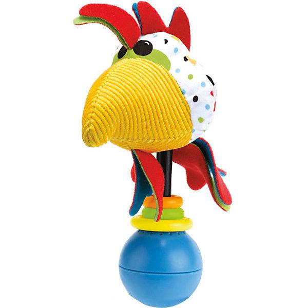 Погремушка Петушок,  YookidooИгрушки для новорожденных<br>Яркая и забавная погремушка в виде смешного Петушка не оставит равнодушным ни ребенка, ни взрослого. Погремушка оснащена звуковыми эффектами, которые включаются, когда ребенок ее встряхивает. В комплект к погремушке входит большое пластиковое кольцо, благодаря которому, ее можно подвесить в коляску или кроватку. Погремушка Петушок улучшит хватательные навыки малыша, укрепит мускулатуру детских рук, улучшит зрительное и слуховое восприятие, а также подарит хорошее настроение.<br><br>Дополнительная информация:<br><br>- Комплектация: погремушка, пластиковое кольцо для подвешивания.<br>- Материал: пластик, текстиль.<br>- Цвет: красный, голубой, белый, желтый.<br>- Размер упаковки: 5 x 16 x 19 см.<br>- Звуковые эффекты: есть.<br>- Элемент питания: батарейки 3хLR44 (входят в комплект).<br><br>Погремушку Петушок,  Yookidoo можно купить в нашем магазине.<br><br>Ширина мм: 195<br>Глубина мм: 50<br>Высота мм: 165<br>Вес г: 64<br>Возраст от месяцев: 0<br>Возраст до месяцев: 12<br>Пол: Унисекс<br>Возраст: Детский<br>SKU: 3908344