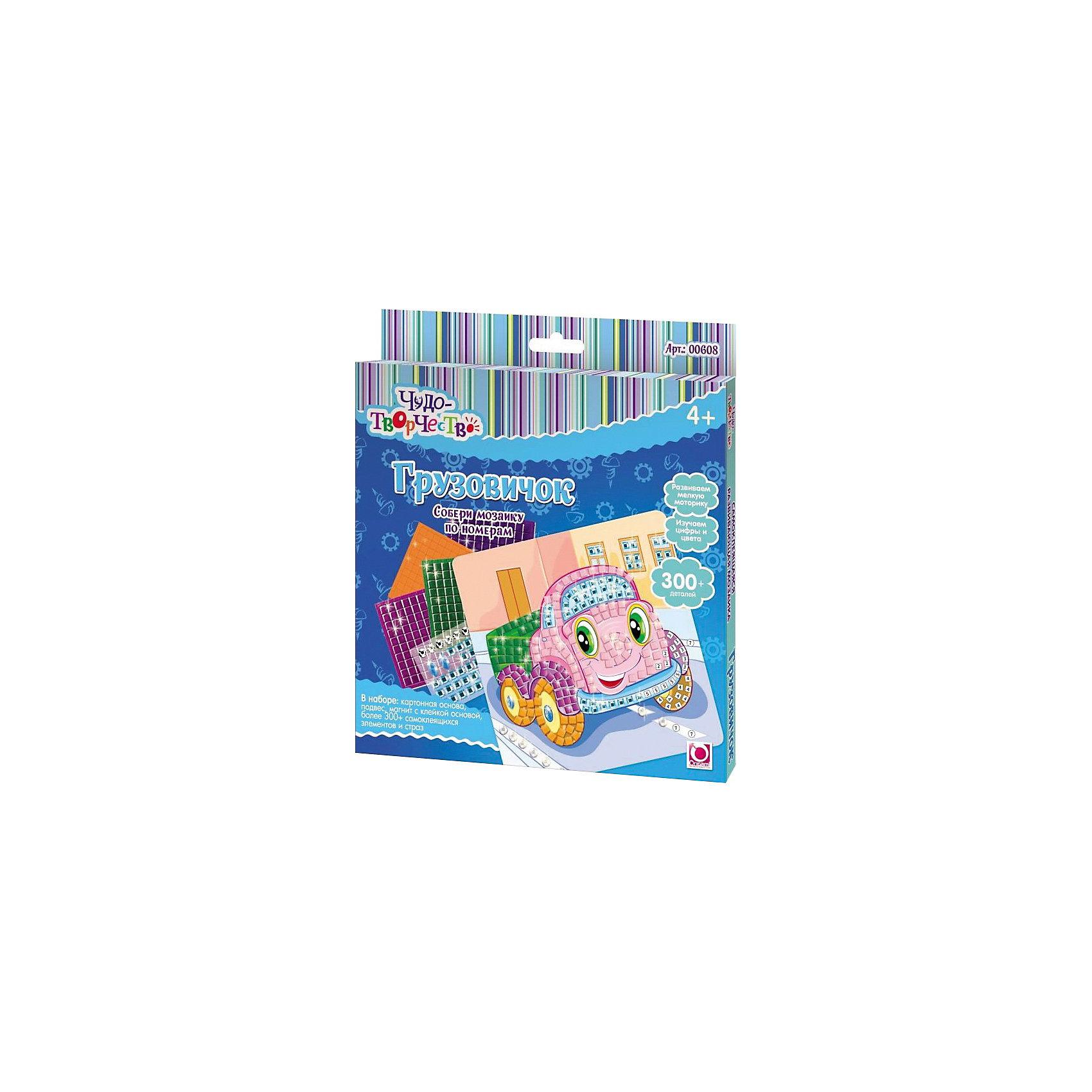 Origami Самоклеющаяся мозаика Грузовичок, Оригами мозайка из пайеток волшебная мастерская рыбка 3d 04