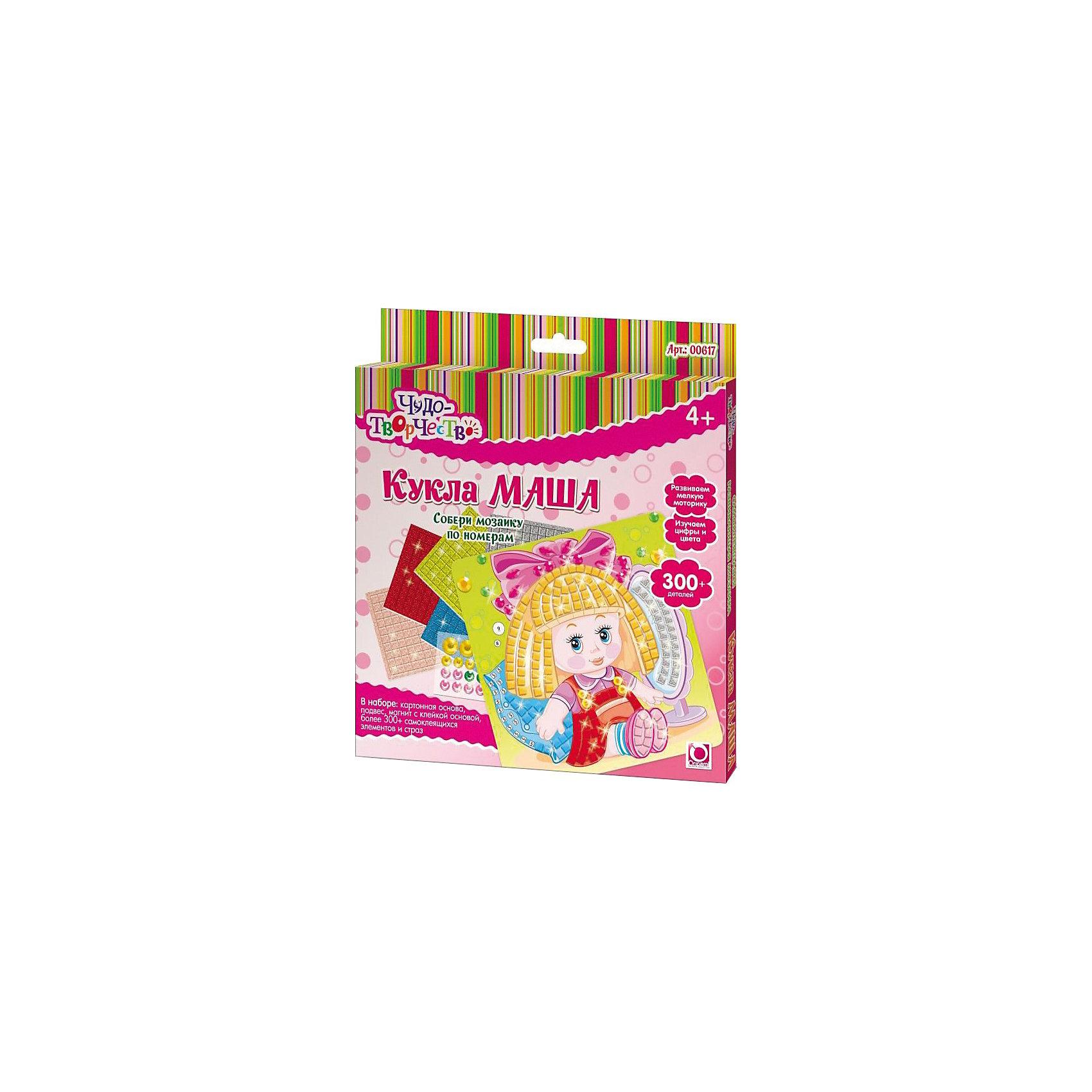 Самоклеющаяся мозаика Кукла Маша, ОригамиСамоклеющаяся мозаика Кукла Маша, Оригами – это творческая игра, в результате которой у детей получается замечательный «шедевр».<br>Самоклеющаяся мозаика Кукла Маша - увлекательная игрушка для детей, которая поможет изучить цвета и цифры. Отличие этой мозаики от обычной в том, что все ее детали имеют клейкую основу, их только нужно правильно разместить. Отклеивая и приклеивая элементы самоклеющейся мозаики, дети совершают тонкие манипуляции, тренируя тем самым мелкую моторику и усидчивость. Проявив внимательность и аккуратность, получится яркая и веселая картинка, которую можно повесить на стену или прикрепить с помощью магнита на холодильник.<br><br>Дополнительная информация:<br><br>- В наборе: картонная основа с картинкой (20x20см), более 300 самоклеющихся элементов и страз, подвес, магнит с клейкой основой<br>- Размер упаковки: 20,5 х 1,5 х 23 см.<br><br>Самоклеющуюся мозаику Кукла Маша, Оригами можно купить в нашем интернет-магазине.<br><br>Ширина мм: 205<br>Глубина мм: 230<br>Высота мм: 15<br>Вес г: 108<br>Возраст от месяцев: 48<br>Возраст до месяцев: 108<br>Пол: Женский<br>Возраст: Детский<br>SKU: 3911427