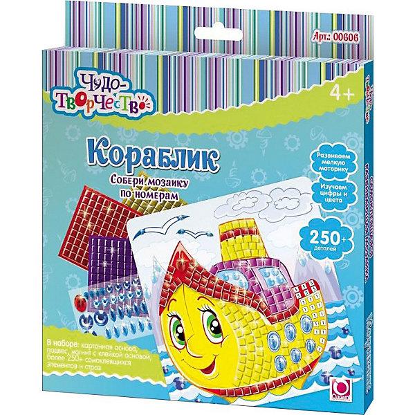 Самоклеющаяся мозаика Пароходик, ОригамиМозаика детская<br>Самоклеющаяся мозаика Пароходик, Оригами – это творческая игра, в результате которой у детей получается замечательный «шедевр».<br>Самоклеющаяся мозаика Пароходик, Оригами - увлекательная игрушка для детей, которая поможет изучить цвета и цифры. Отличие этой мозаики от обычной в том, что все ее детали имеют клейкую основу, их только нужно правильно разместить. Отклеивая и приклеивая элементы самоклеющейся мозаики, дети совершают тонкие манипуляции, тренируя тем самым мелкую моторику и усидчивость. Проявив внимательность и аккуратность, получится яркая и веселая картинка, которую можно повесить на стену или прикрепить с помощью магнита на холодильник.<br><br>Дополнительная информация:<br><br>- В наборе: картонная основа с картинкой (20x20см), более 250 самоклеющихся элементов и страз, подвес, магнит с клейкой основой<br>- Размер упаковки: 20,5 х 1,5 х 23 см.<br><br>Самоклеющуюся мозаику Пароходик, Оригами можно купить в нашем интернет-магазине.<br><br>Ширина мм: 205<br>Глубина мм: 230<br>Высота мм: 15<br>Вес г: 108<br>Возраст от месяцев: 48<br>Возраст до месяцев: 108<br>Пол: Мужской<br>Возраст: Детский<br>SKU: 3911429
