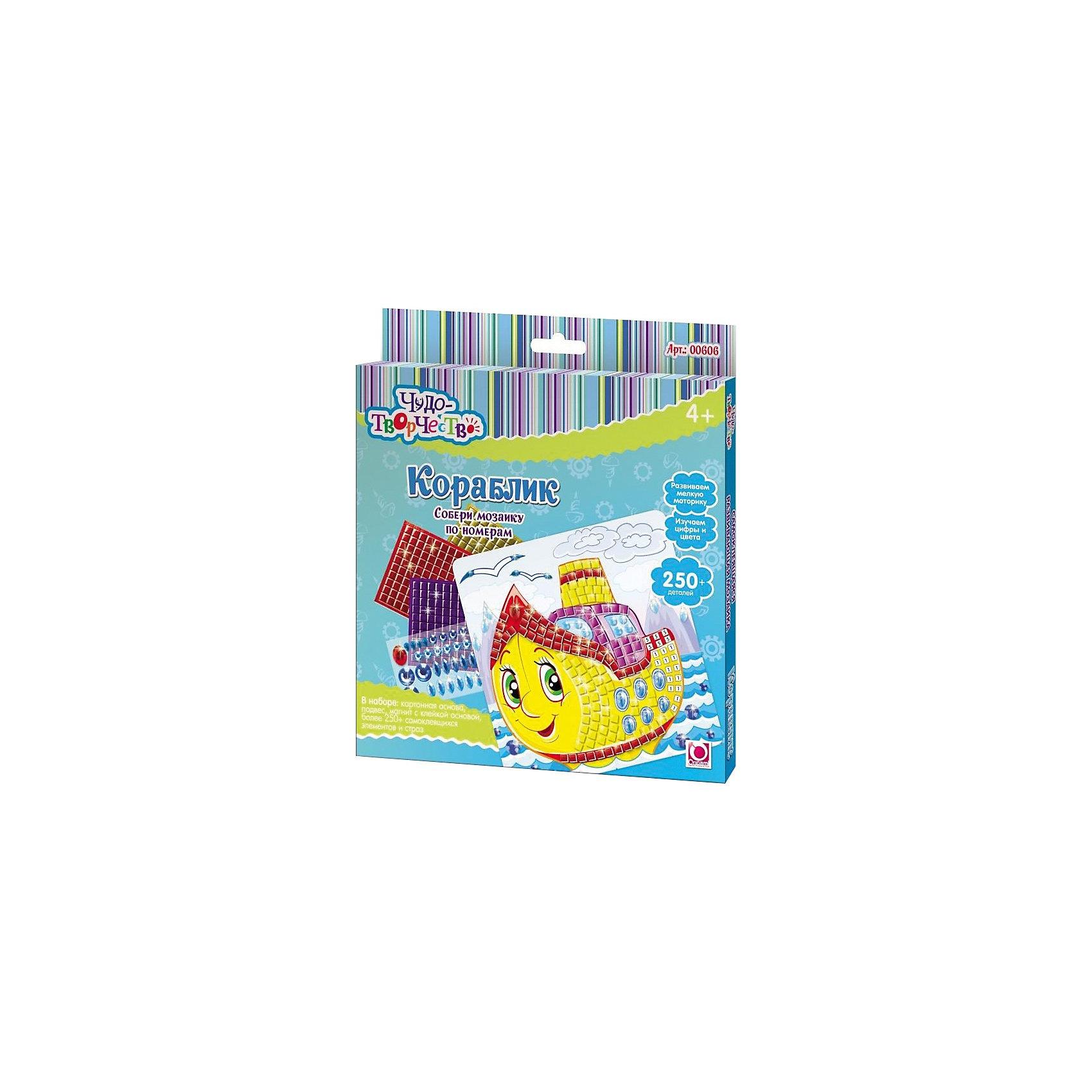 Самоклеющаяся мозаика Пароходик, ОригамиСамоклеющаяся мозаика Пароходик, Оригами – это творческая игра, в результате которой у детей получается замечательный «шедевр».<br>Самоклеющаяся мозаика Пароходик, Оригами - увлекательная игрушка для детей, которая поможет изучить цвета и цифры. Отличие этой мозаики от обычной в том, что все ее детали имеют клейкую основу, их только нужно правильно разместить. Отклеивая и приклеивая элементы самоклеющейся мозаики, дети совершают тонкие манипуляции, тренируя тем самым мелкую моторику и усидчивость. Проявив внимательность и аккуратность, получится яркая и веселая картинка, которую можно повесить на стену или прикрепить с помощью магнита на холодильник.<br><br>Дополнительная информация:<br><br>- В наборе: картонная основа с картинкой (20x20см), более 250 самоклеющихся элементов и страз, подвес, магнит с клейкой основой<br>- Размер упаковки: 20,5 х 1,5 х 23 см.<br><br>Самоклеющуюся мозаику Пароходик, Оригами можно купить в нашем интернет-магазине.<br><br>Ширина мм: 205<br>Глубина мм: 230<br>Высота мм: 15<br>Вес г: 108<br>Возраст от месяцев: 48<br>Возраст до месяцев: 108<br>Пол: Мужской<br>Возраст: Детский<br>SKU: 3911429