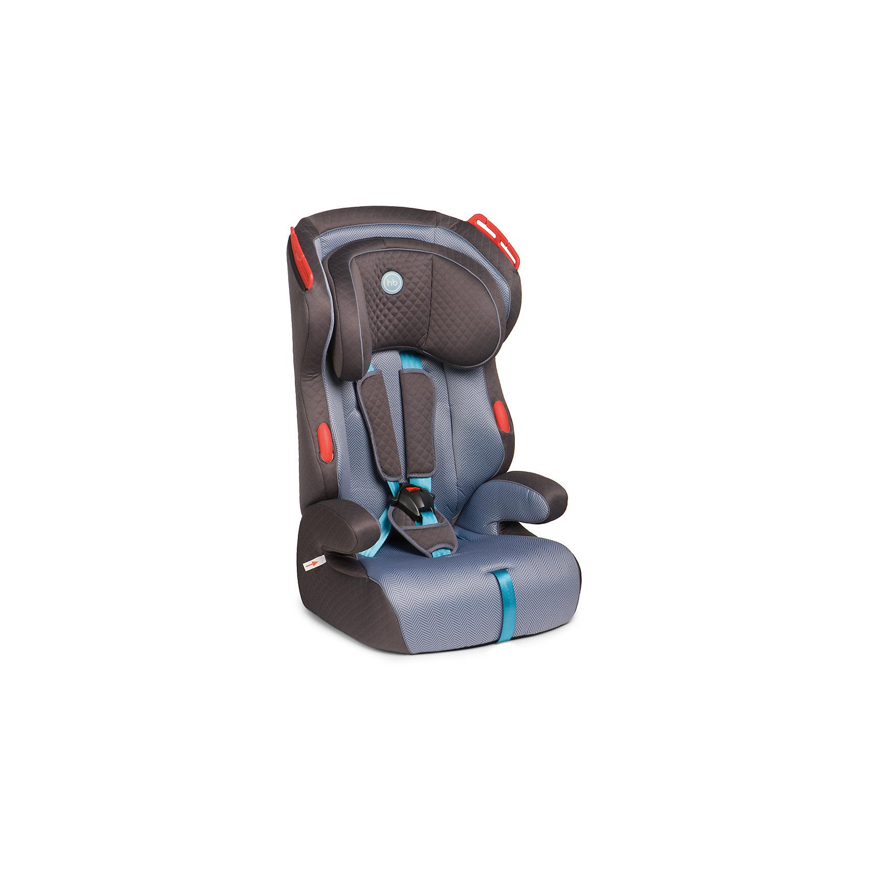 Автокресло Atlant, 9-36 кг., Happy Baby, серый/голубой
