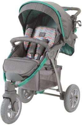 Прогулочная коляска Happy Baby Neon Sport, серый/зеленый Прогулочная коляска Happy Baby Neon Sport, серый/