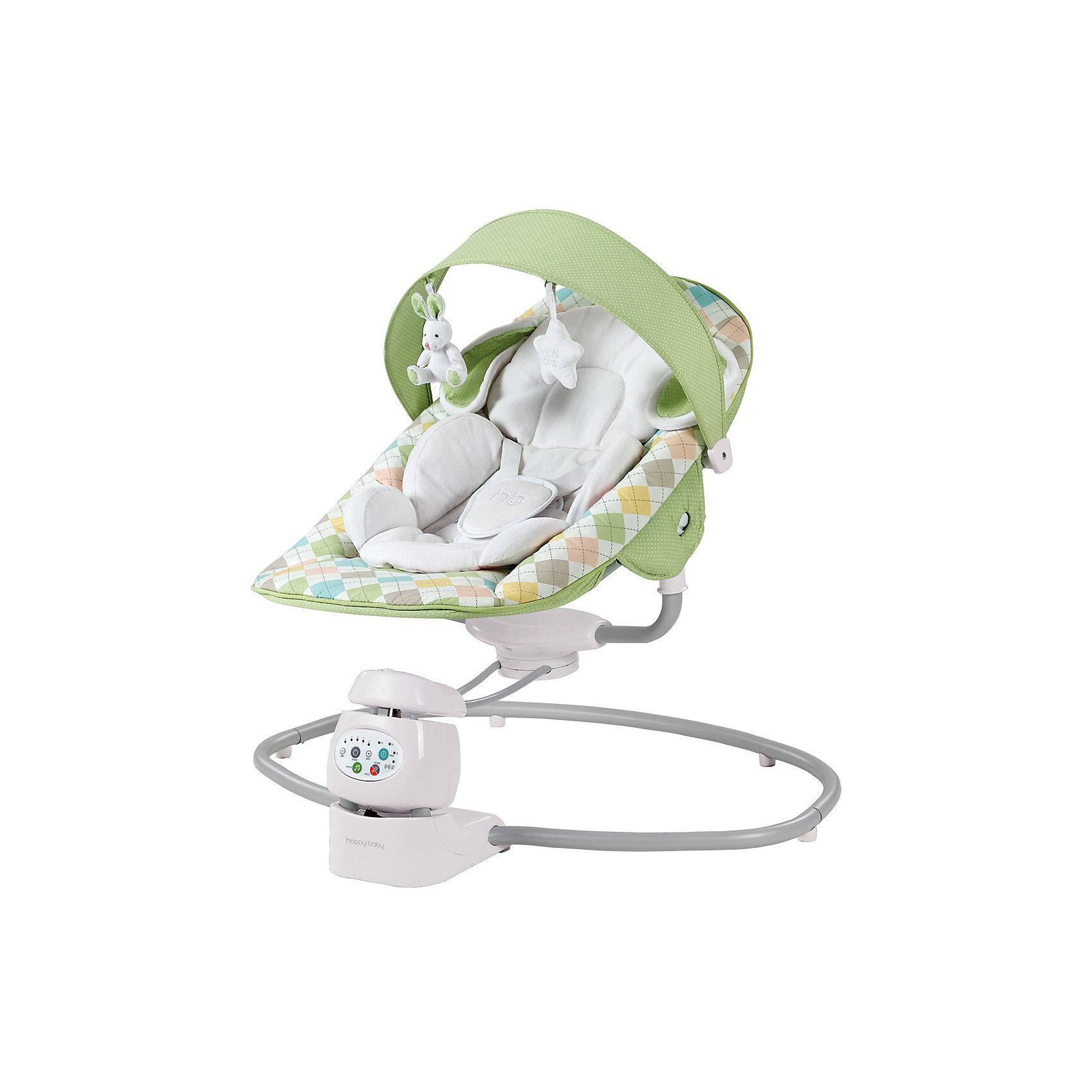 Кресло-качели Dinky, Happy Baby, зелёный