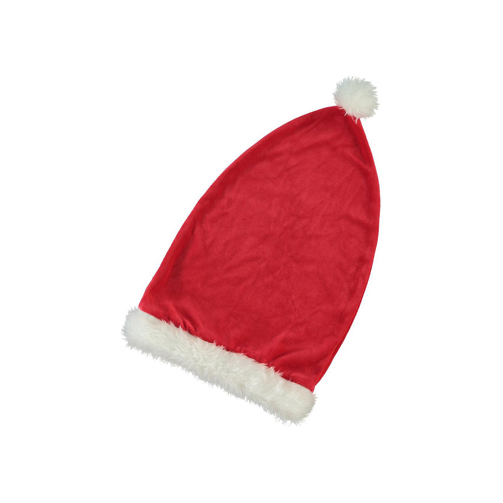 Шапка Санта Клауса name itАксессуары<br>Шапка Санта Клауса<br><br>Красная шапка для новогодних дней имеет привычную форму. Яркая, мягкая, она создает ощущение праздника.<br><br>Особенности модели:<br><br>- цвет - красный;<br>- белая опушка и бомбошка;<br>- материал - мягкий футер.<br><br>Дополнительная информация:<br><br>Состав: 100% полиэстер<br><br>Шапку Санта Клауса можно купить в нашем магазине.<br><br>Ширина мм: 89<br>Глубина мм: 117<br>Высота мм: 44<br>Вес г: 155<br>Цвет: красный<br>Возраст от месяцев: 60<br>Возраст до месяцев: 84<br>Пол: Женский<br>Возраст: Детский<br>Размер: 53,55<br>SKU: 3916509