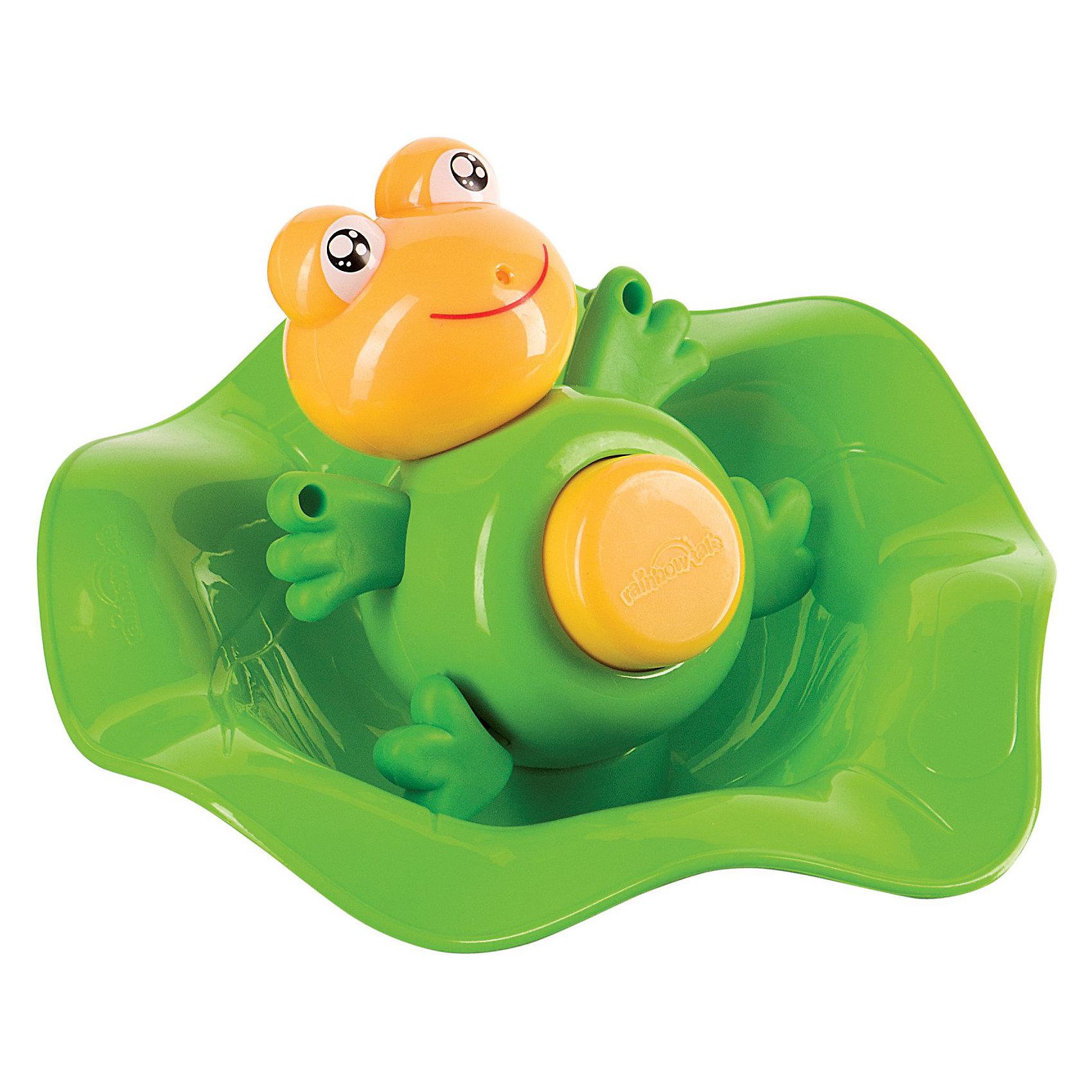 Лягушка -прорезыватель и ковш,  Happy BabyЛягушка-прорезыватель сделана по принципу 2 в 1. Её можно использовать как прорезыватель и как игрушку для ванны, которая превратит купание в веселую игру. Игрушка выполнена в виде яркой очаровательной лягушки и имеет безопасную овальную форму. Четыре прорезывателя в форме лапок будут нежно помассировать десны малыша. На животике лягушки расположена кнопка, при нажатии на которую, игрушка выстреливает струей воды. Голова лягушки поворачивается в разные стороны. В комплект входит оригинальный ковшик для воды, выполненный в виде листа лотоса, с которым ваш ребенок будет весело играть. Развивает: зрение, мелкую моторику, цветовое восприятие, тактильные ощущения, хватательные движения, концентрацию внимания.<br><br>Дополнительная информация:<br><br>- В наборе: лягушка, ковш<br>- Материал: высококачественный пластик<br>- Высота лягушки: 9,5 см.<br>- Размер ковша: 16 х 17 х 6 см.<br>- Размер упаковки: 25,5 х 7 х 19,5 см.<br><br>Лягушку -прорезыватель и ковш,  Happy Baby (Хэппи Беби) можно купить в нашем интернет-магазине.<br><br>Ширина мм: 255<br>Глубина мм: 70<br>Высота мм: 195<br>Вес г: 170<br>Возраст от месяцев: 0<br>Возраст до месяцев: 36<br>Пол: Унисекс<br>Возраст: Детский<br>SKU: 3918479