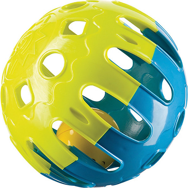 Шарик-погремушка,  Happy BabyПогремушки<br>Шарик-погремушка,  Happy Baby (Хэппи Беби) будет стимулировать ребенка к движению, за убегающим шариком.<br>Шарик-погремушка представляет из себя яркий рельефный шар с прорезями в виде геометрических фигур. Внутри шара находится маленький мячик, который звенит, если потрясти погремушку. Игрушка сыграет важную роль в обучении ползанию, стимулируя движение вперед: убегающий шар побуждает малыша двигаться за ним и помогает почувствовать собственные возможности в овладении пространством, развивая координацию движений. Погремушка изготовлена из качественного пластика, безопасного для здоровья ребенка. Развивает: зрение; мелкую моторику; первые навыки ползанья; восприятие формы и размера.<br><br>Дополнительная информация:<br><br>- Цвет: лимонный, синий<br>- Материал: пластик<br>- Диаметр шара: 14 см.<br>- Размер упаковки: 15 х 15 х 15 см.<br><br>Шарик-погремушку,  Happy Baby (Хэппи Беби) можно купить в нашем интернет-магазине.<br>Ширина мм: 130; Глубина мм: 130; Высота мм: 130; Вес г: 136; Возраст от месяцев: 6; Возраст до месяцев: 36; Пол: Унисекс; Возраст: Детский; SKU: 3918481;