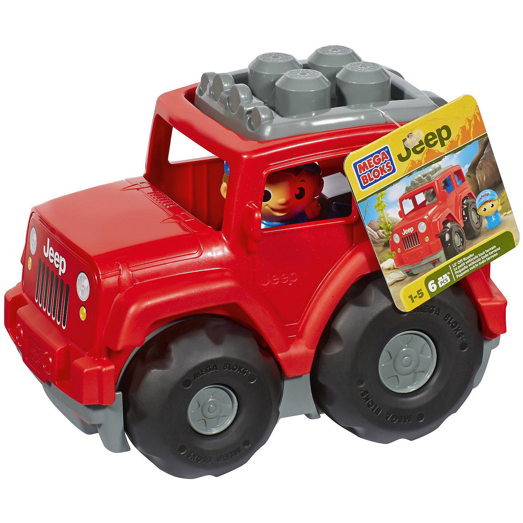 Внедорожник JEEP MEGA BLOKSВнедорожник Jeep, Mega Bloks, не оставит равнодушным маленького автолюбителя. Машинка выполнена в ярких красочных цветах, крупные детали с округлыми краями безопасны для детей и удобны для маленьких ручек. Салон можно загрузить шестью входящими в комплект блоками и поместить внутрь фигурку водителя. Яркие блоки также можно прикрепить на крышу, изменив внешний вид автомобиля. Большие широкие колеса позволяют легко катать машинку по любой поверхности. Набор совместим с другими наборами серии First Builders.<br><br>Дополнительная информация:<br><br>- В комплекте: джип, 6 блоков First Builders, фигурка водителя.<br>- Материал: пластик.<br>- Размер упаковки: 23 x 15 x 17 см. <br>- Вес: 0,46 кг.<br><br>Внедорожник Jeep, MEGA BLOKS, можно купить в нашем интернет-магазине.<br><br>Ширина мм: 233<br>Глубина мм: 151<br>Высота мм: 177<br>Вес г: 453<br>Возраст от месяцев: 12<br>Возраст до месяцев: 48<br>Пол: Унисекс<br>Возраст: Детский<br>SKU: 3920910